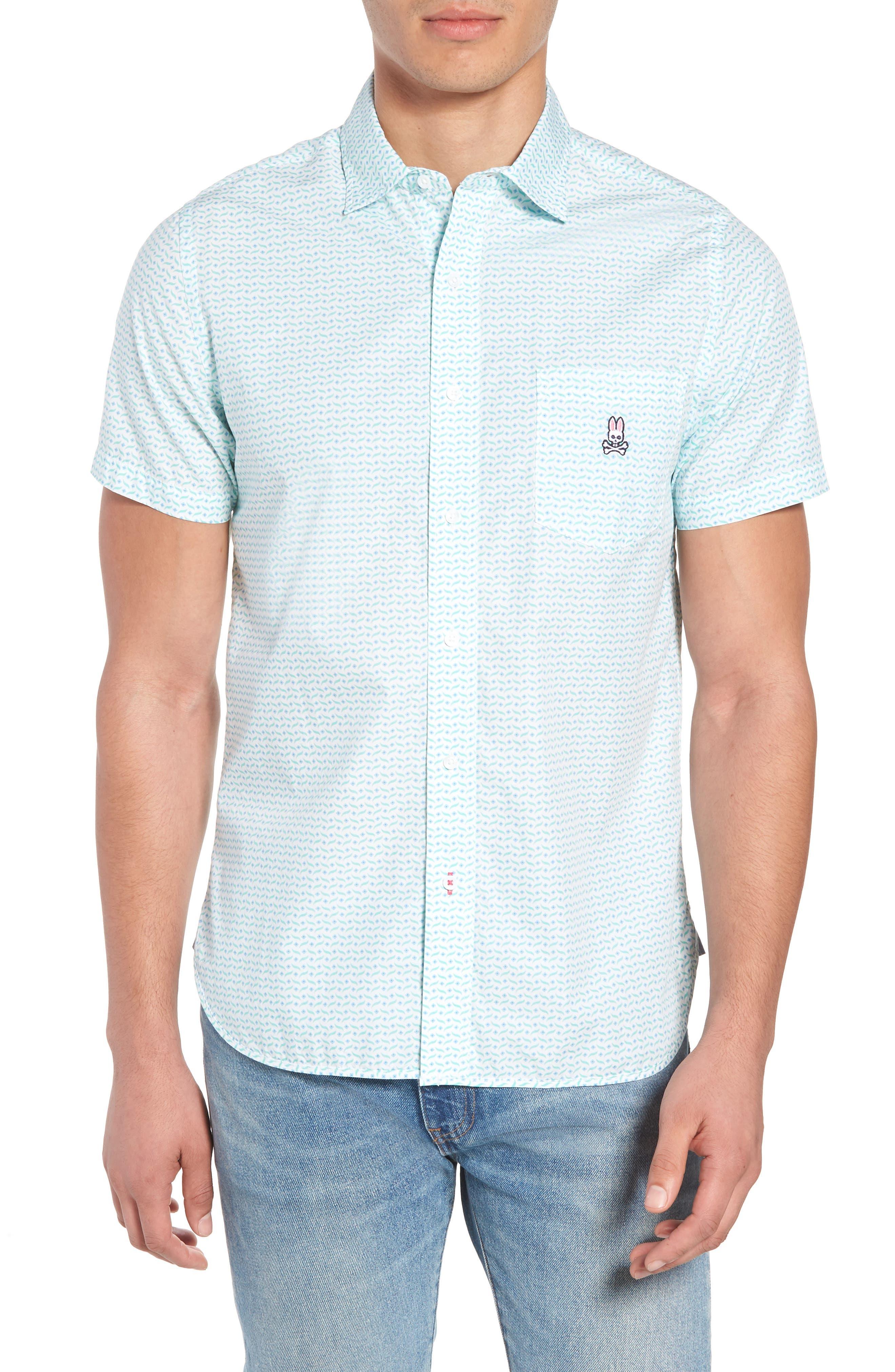Print Sport Shirt,                         Main,                         color, White