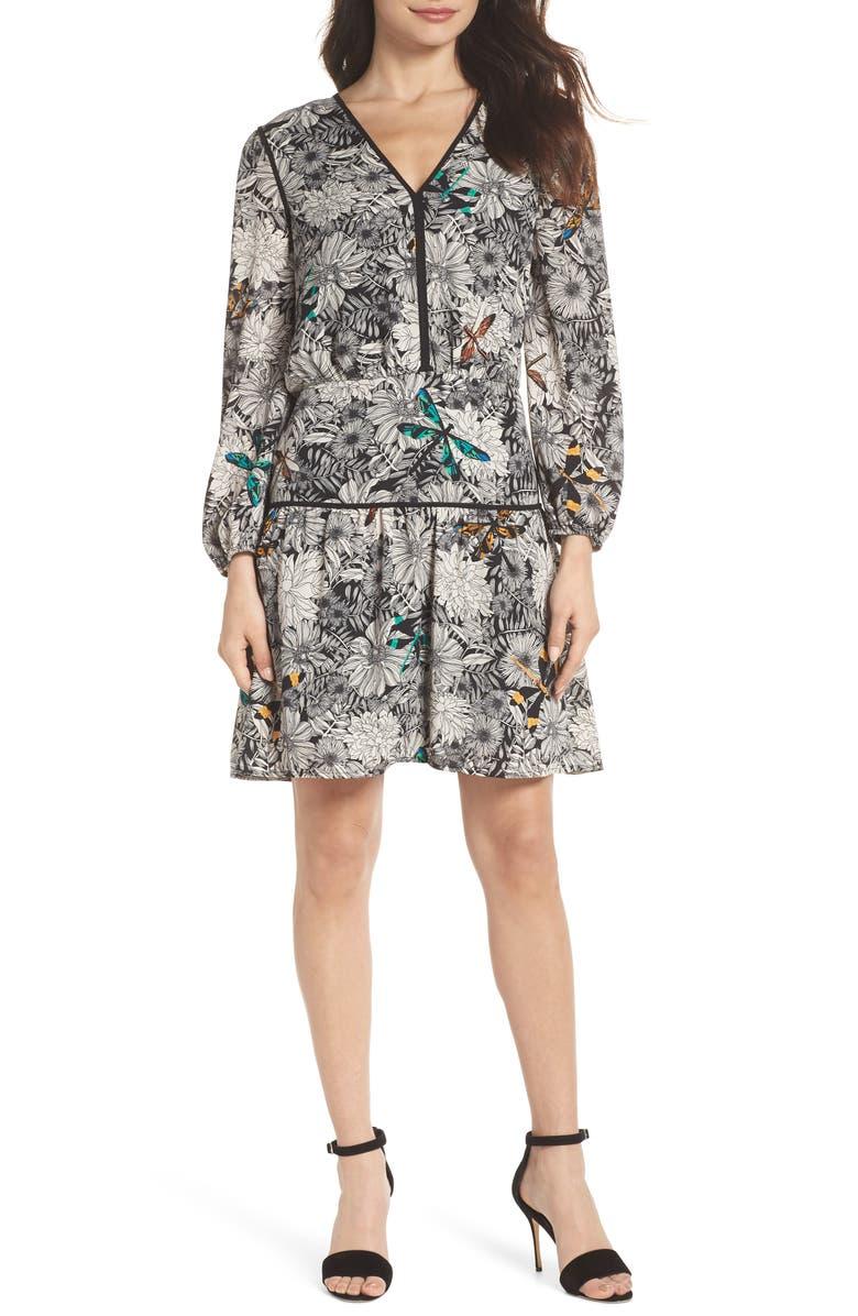 Print Blouson Dress