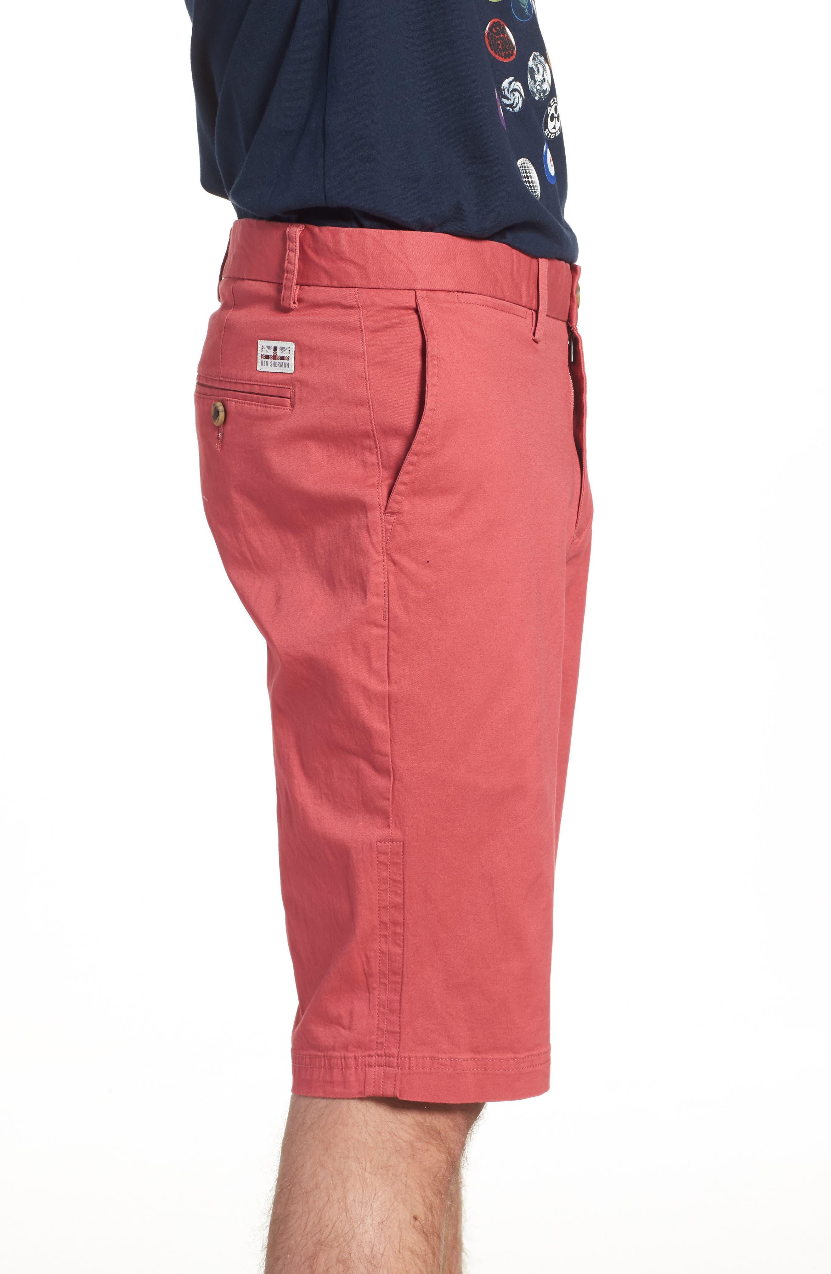 Alternate Image 3  - Ben Sherman Slim Stretch Chino Shorts