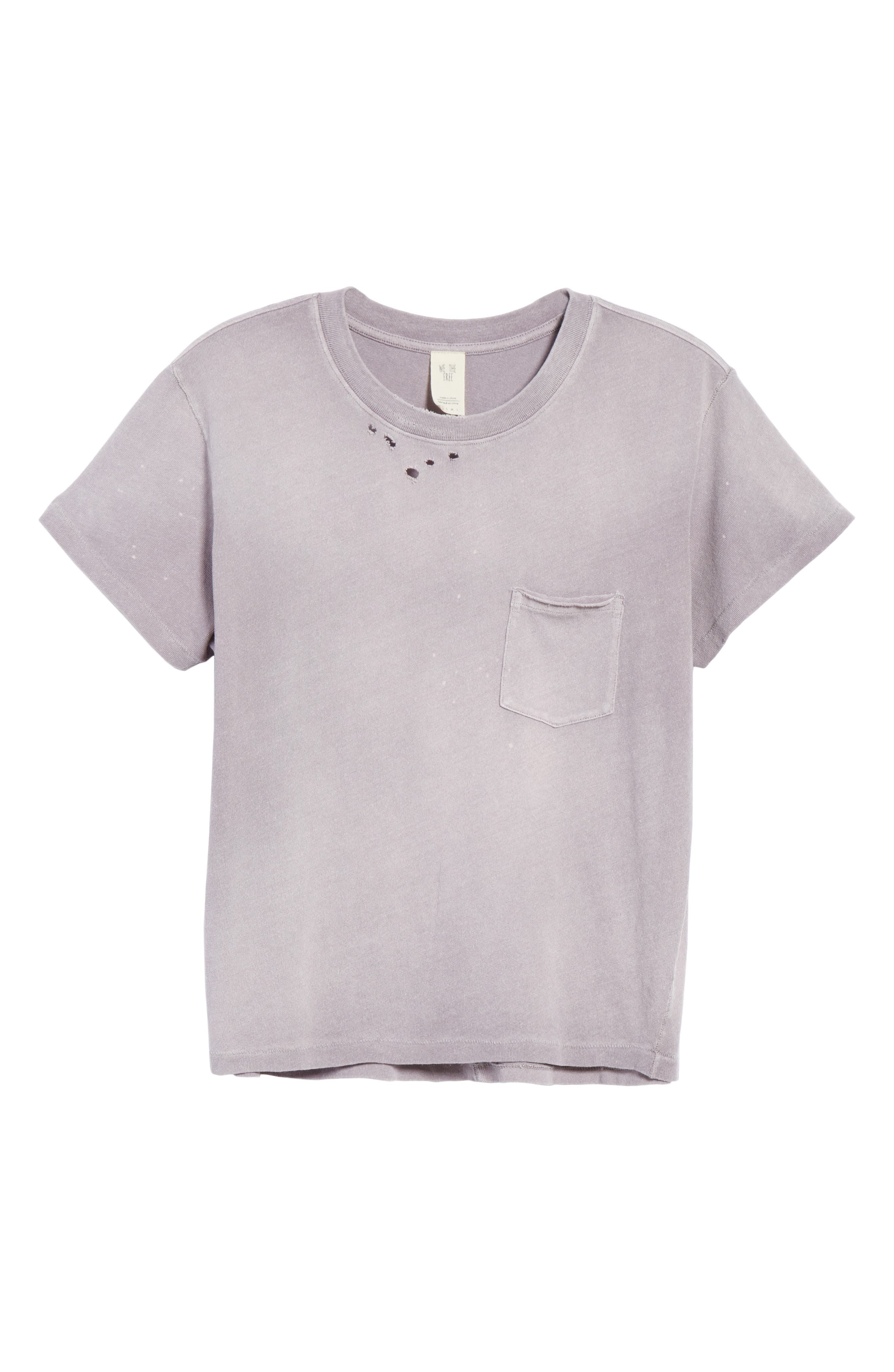 We the People by Free People Vintage Pocket Tee,                             Alternate thumbnail 6, color,                             Lilac
