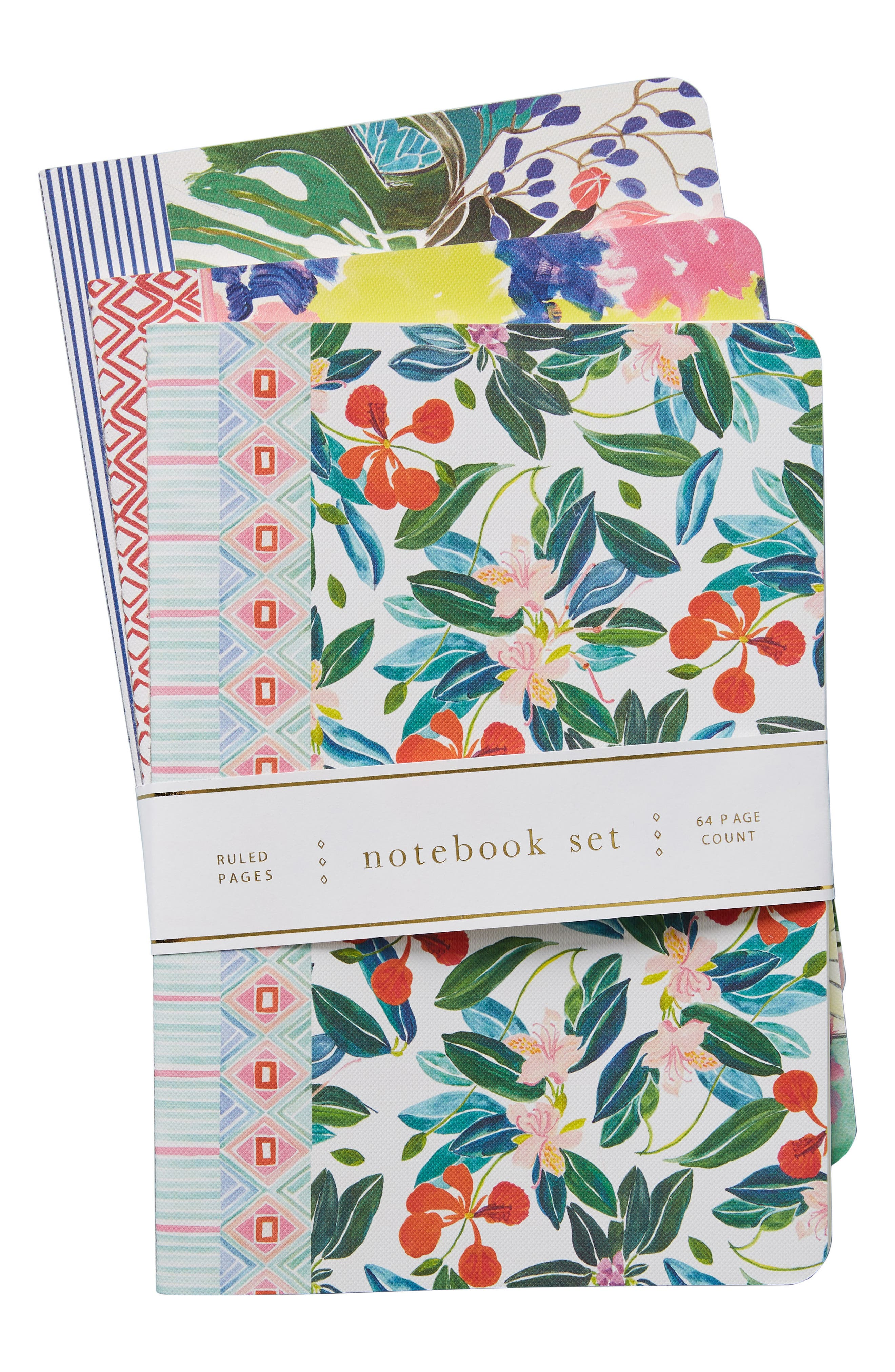 Sisters Gulassa Set of 3 Notebooks,                             Alternate thumbnail 3, color,                             Green