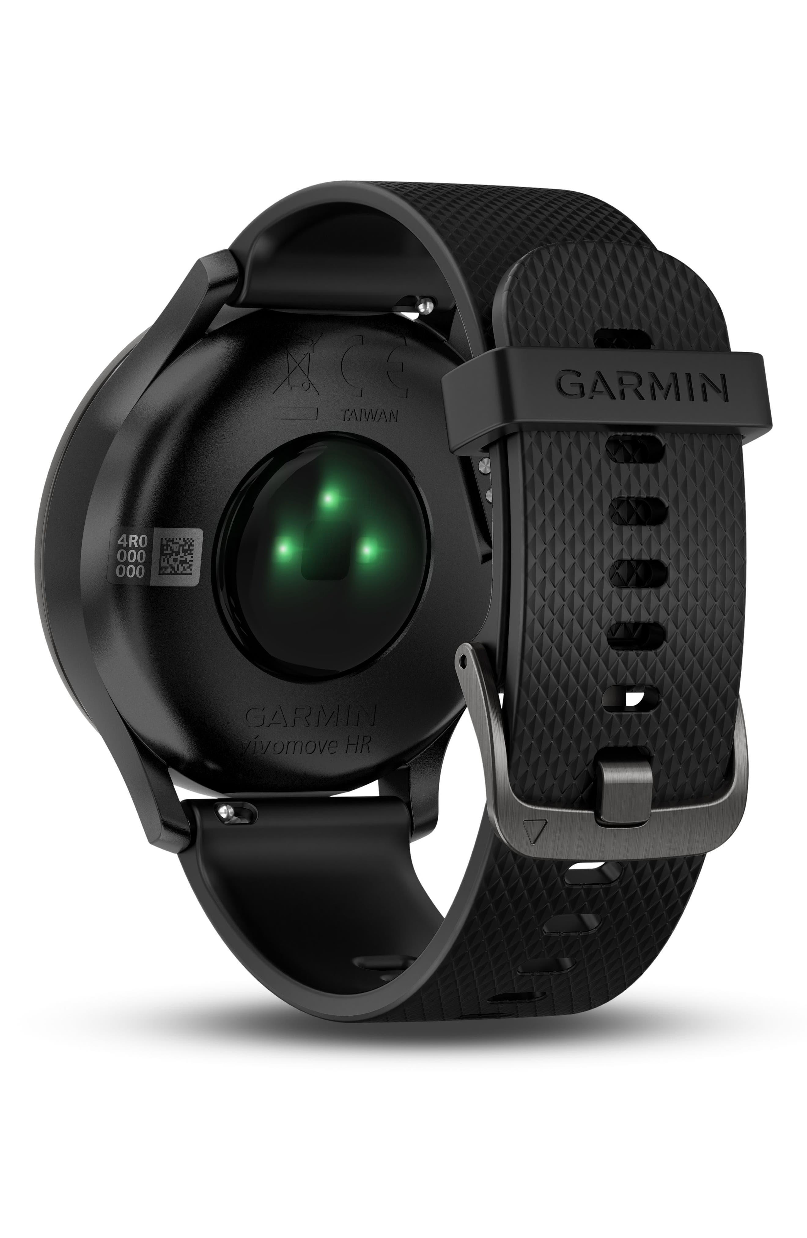 Vivomove HR Large Sport Hybrid Smart Watch,                             Alternate thumbnail 7, color,                             Black/ Black/ Black