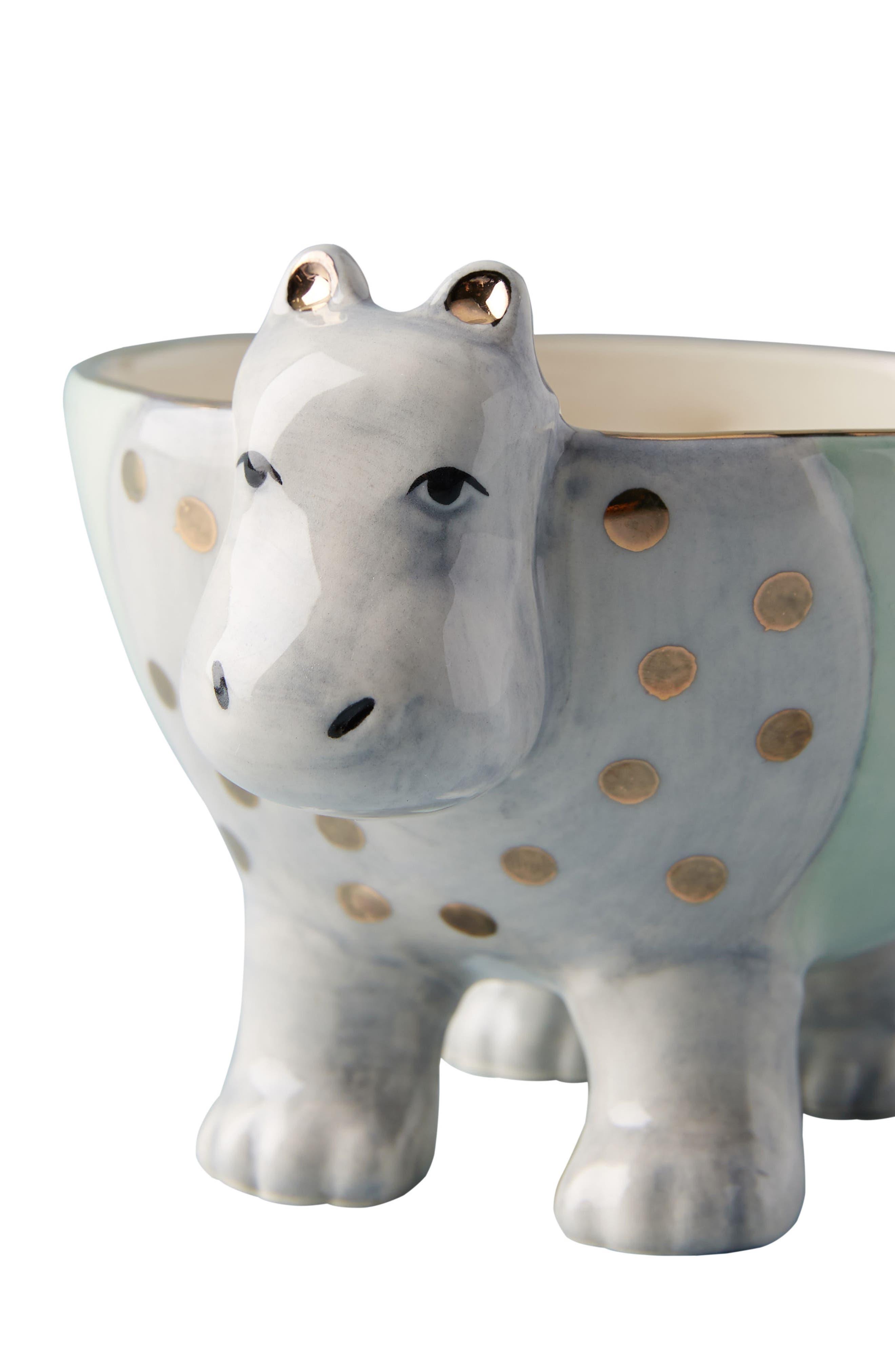 Sweet Safari Trinket Dish,                             Alternate thumbnail 4, color,                             Hippo