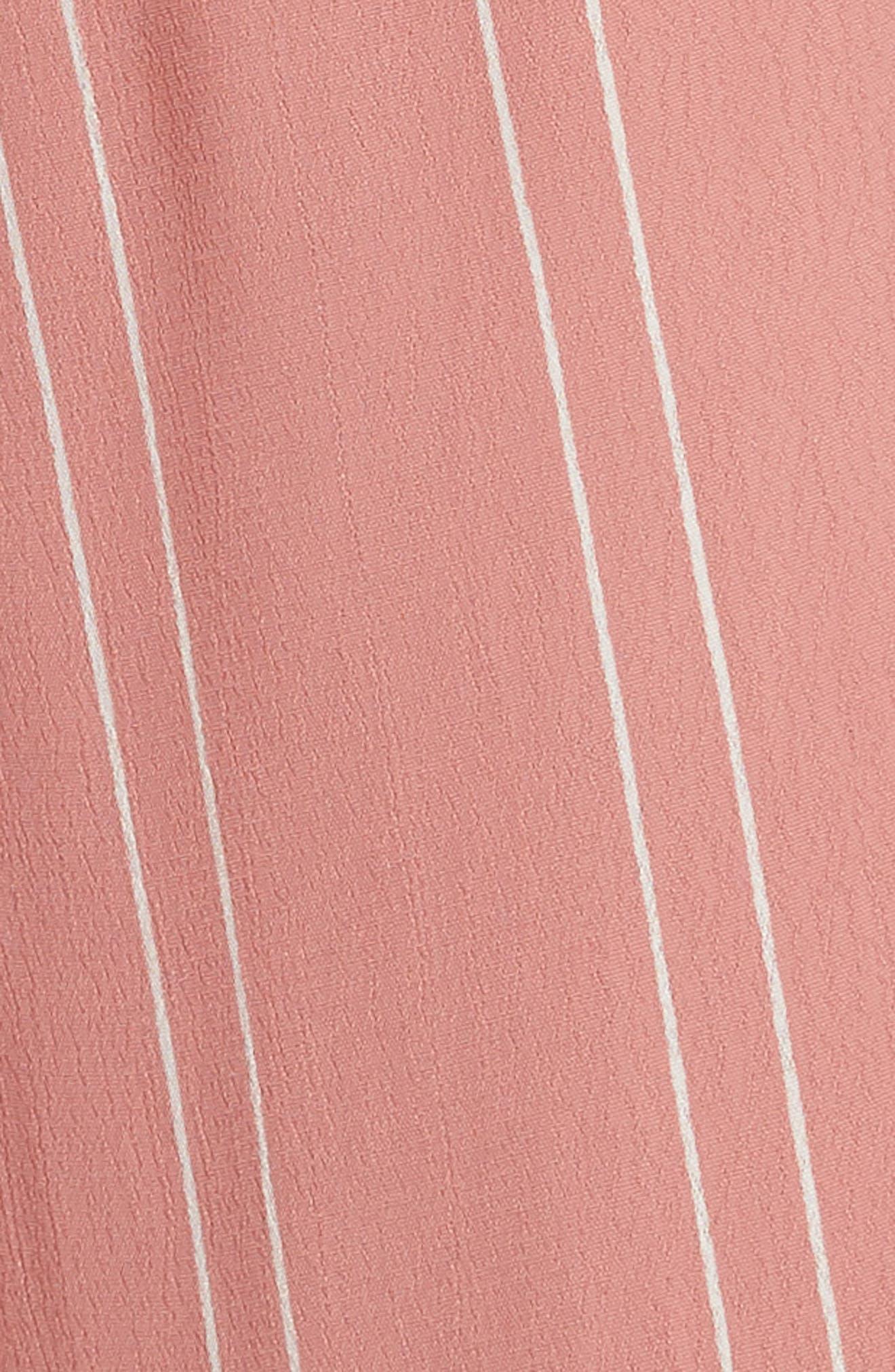 Keyhole Tie Jumpsuit,                             Alternate thumbnail 3, color,                             Coral Faded Stripe