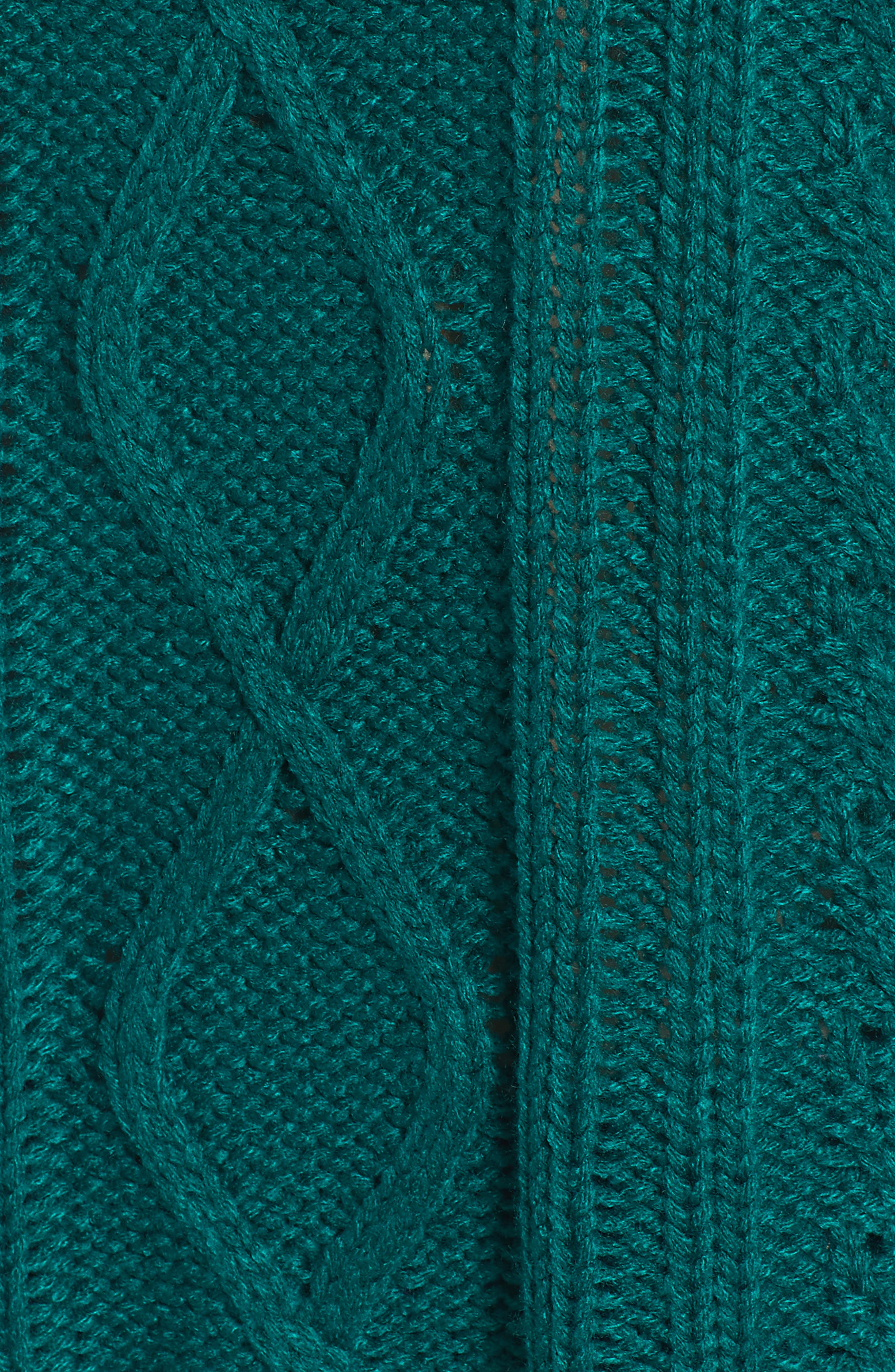 Off Shore Cable Knit Sweater,                             Alternate thumbnail 6, color,                             Deep Lagoon
