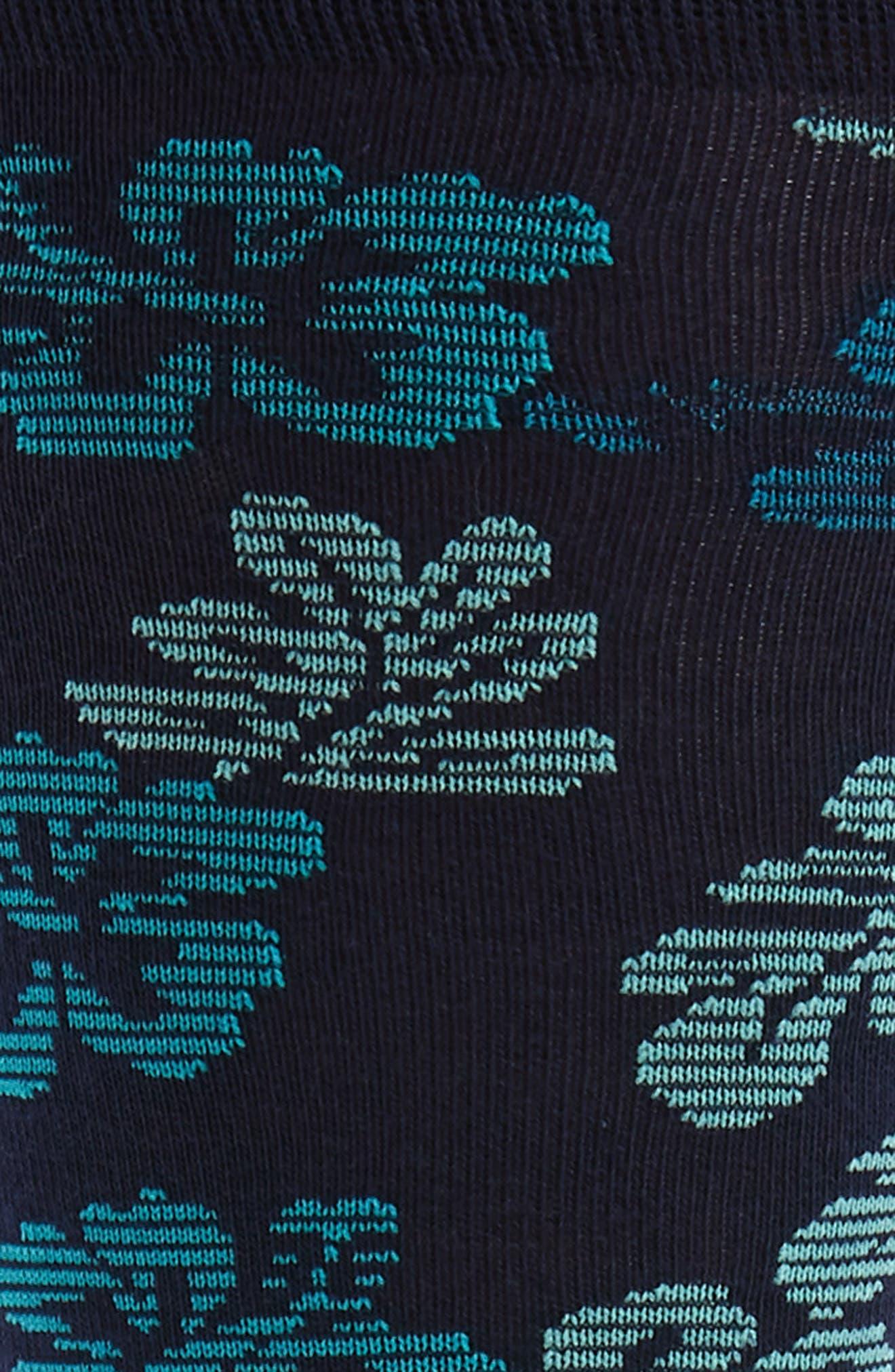 Hibiscus Vibe Socks,                             Alternate thumbnail 2, color,                             Navy/ Teal