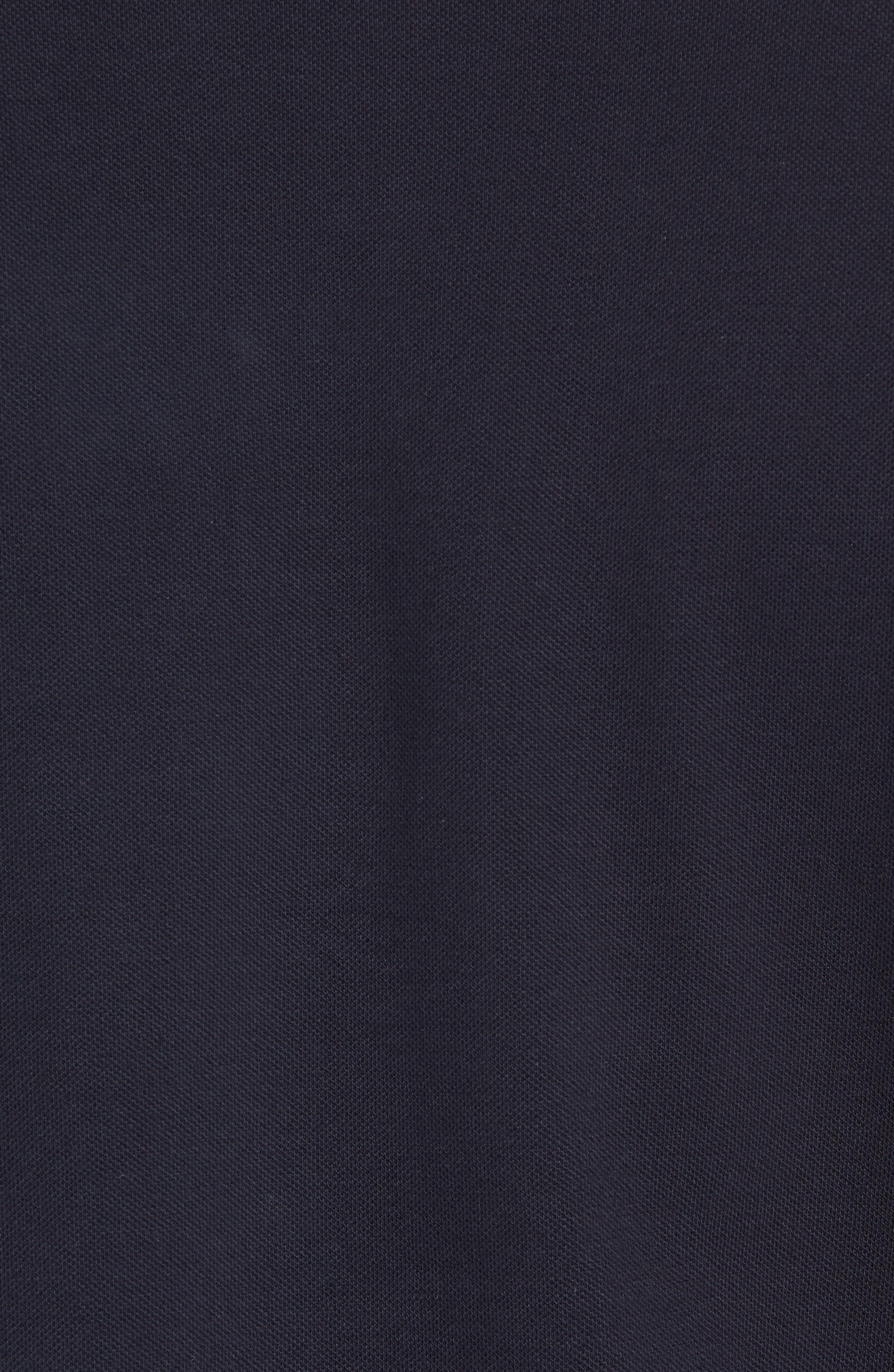 Cotton Polo Shirt,                             Alternate thumbnail 5, color,                             Marine Blue