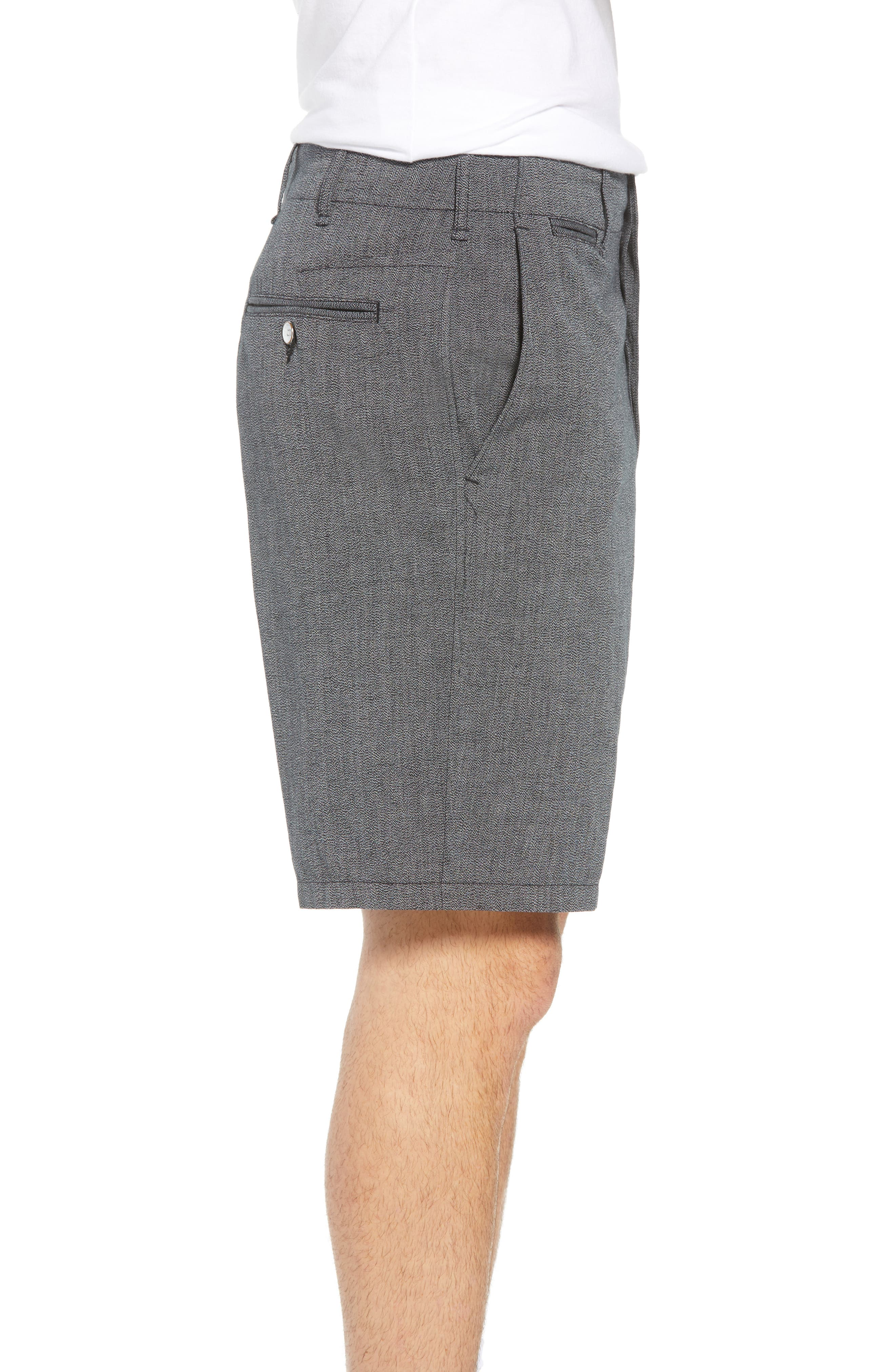 Base Classic Fit Shorts,                             Alternate thumbnail 3, color,                             Grey