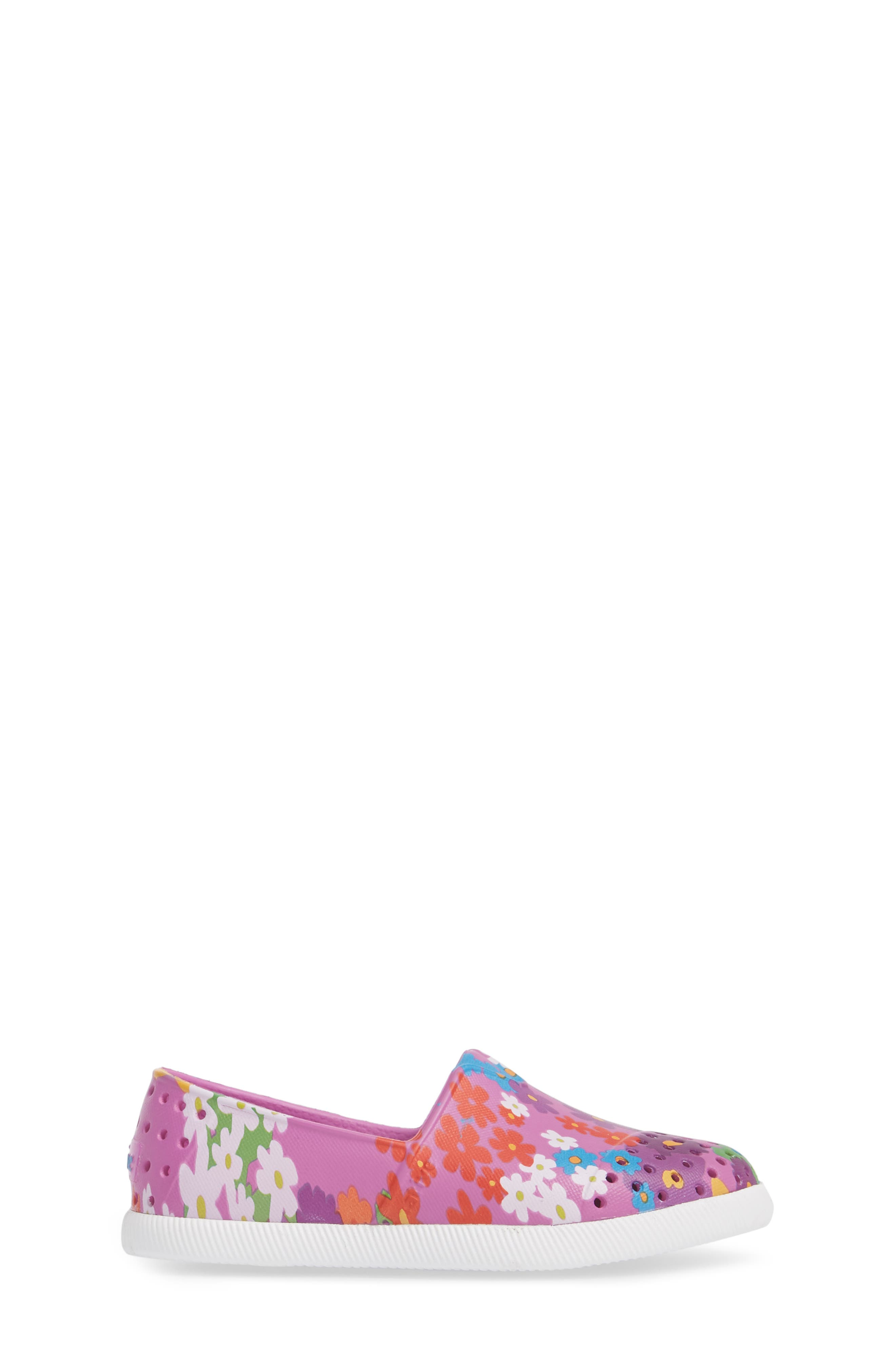 Verona Perforated Slip-On,                             Alternate thumbnail 3, color,                             Peace Purple/ White/ Daisy