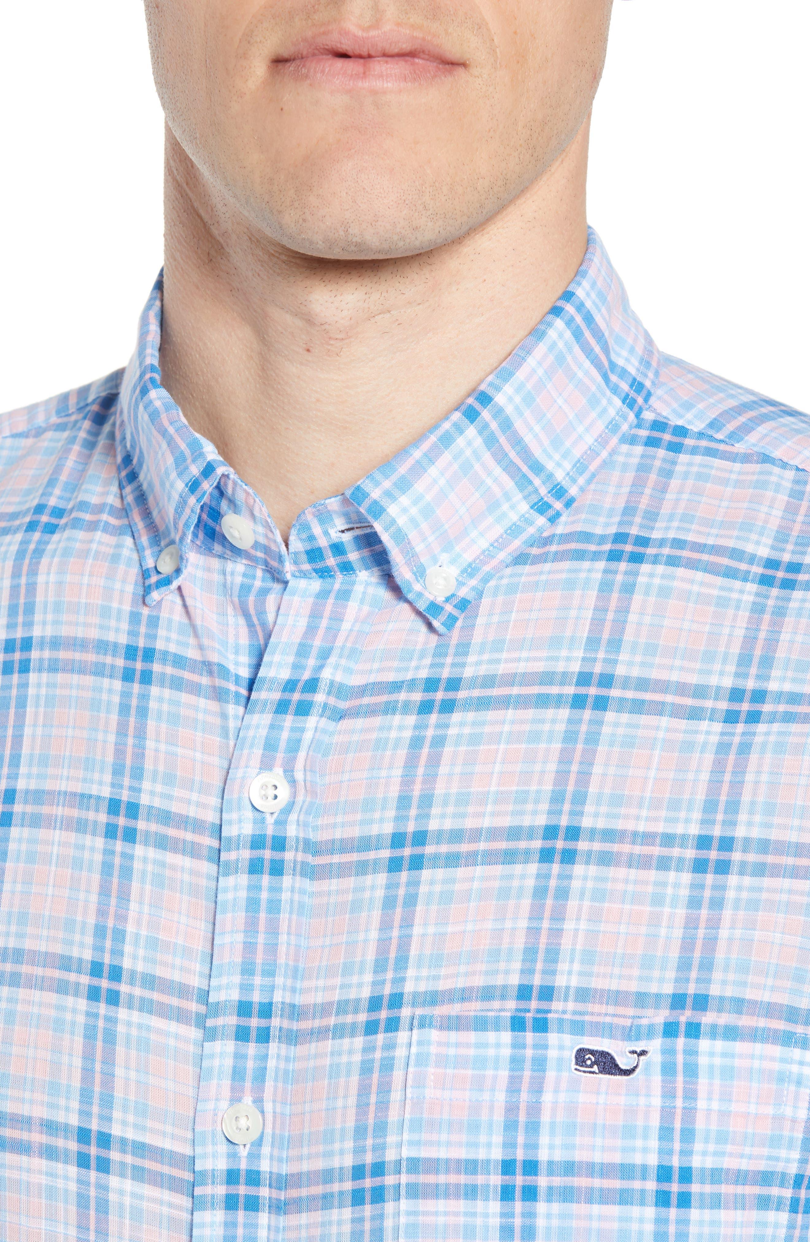 Stoney Hill Tucker Classic Fit Plaid Sport Shirt,                             Alternate thumbnail 2, color,                             Hibiscus