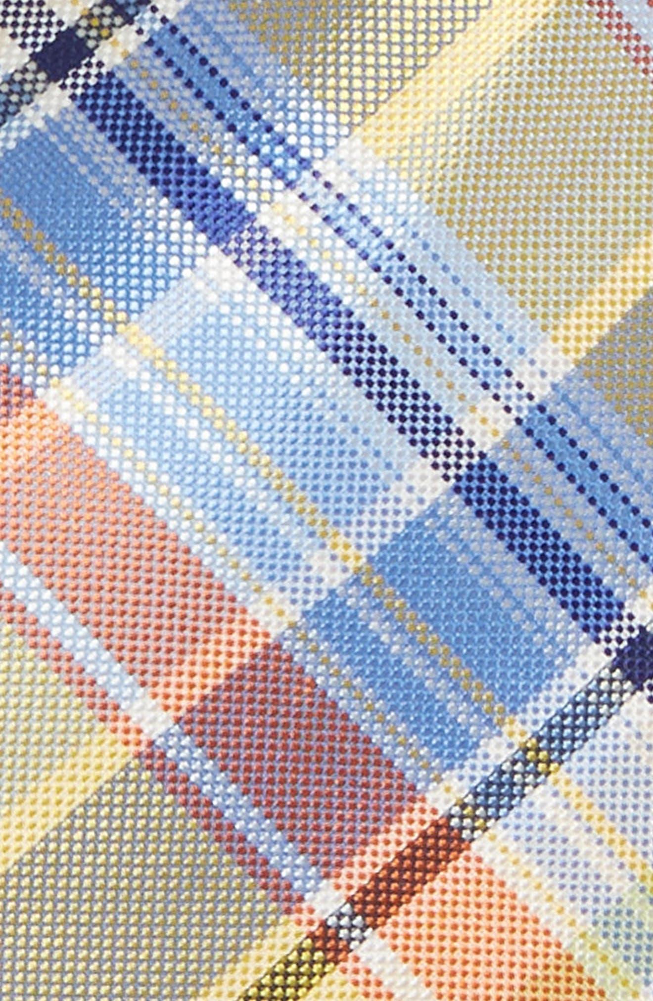 Madras Plaid Silk Tie,                             Alternate thumbnail 2, color,                             455