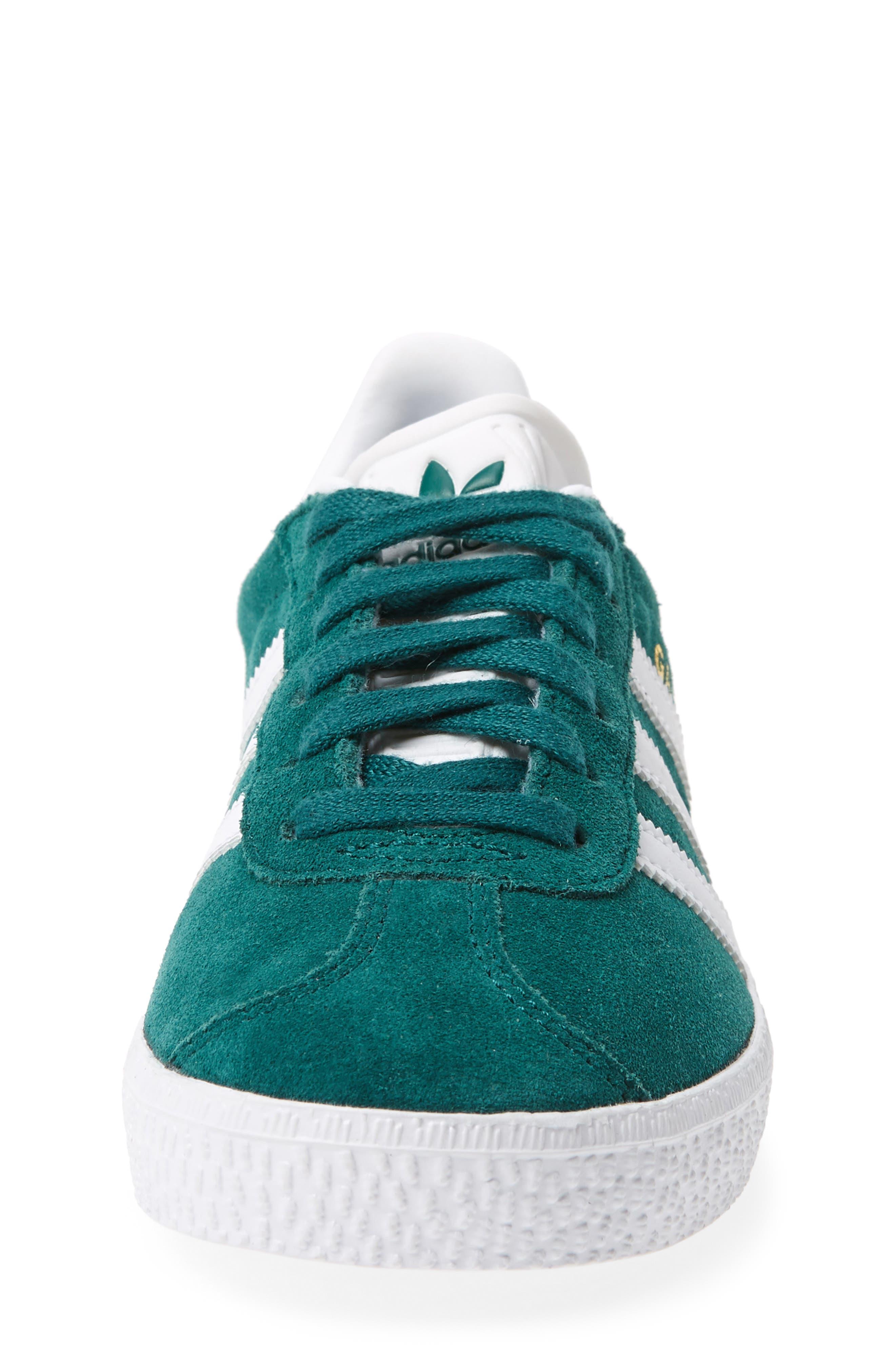 Gazelle Sneaker,                             Alternate thumbnail 4, color,                             Noble Green/ White