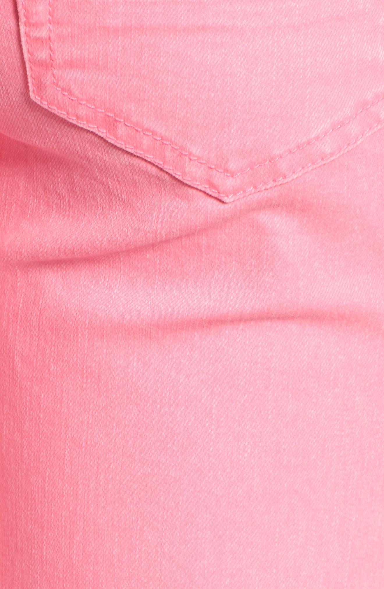 Alternate Image 6  - Tinsel Distressed Roll Cuff Skinny Jeans