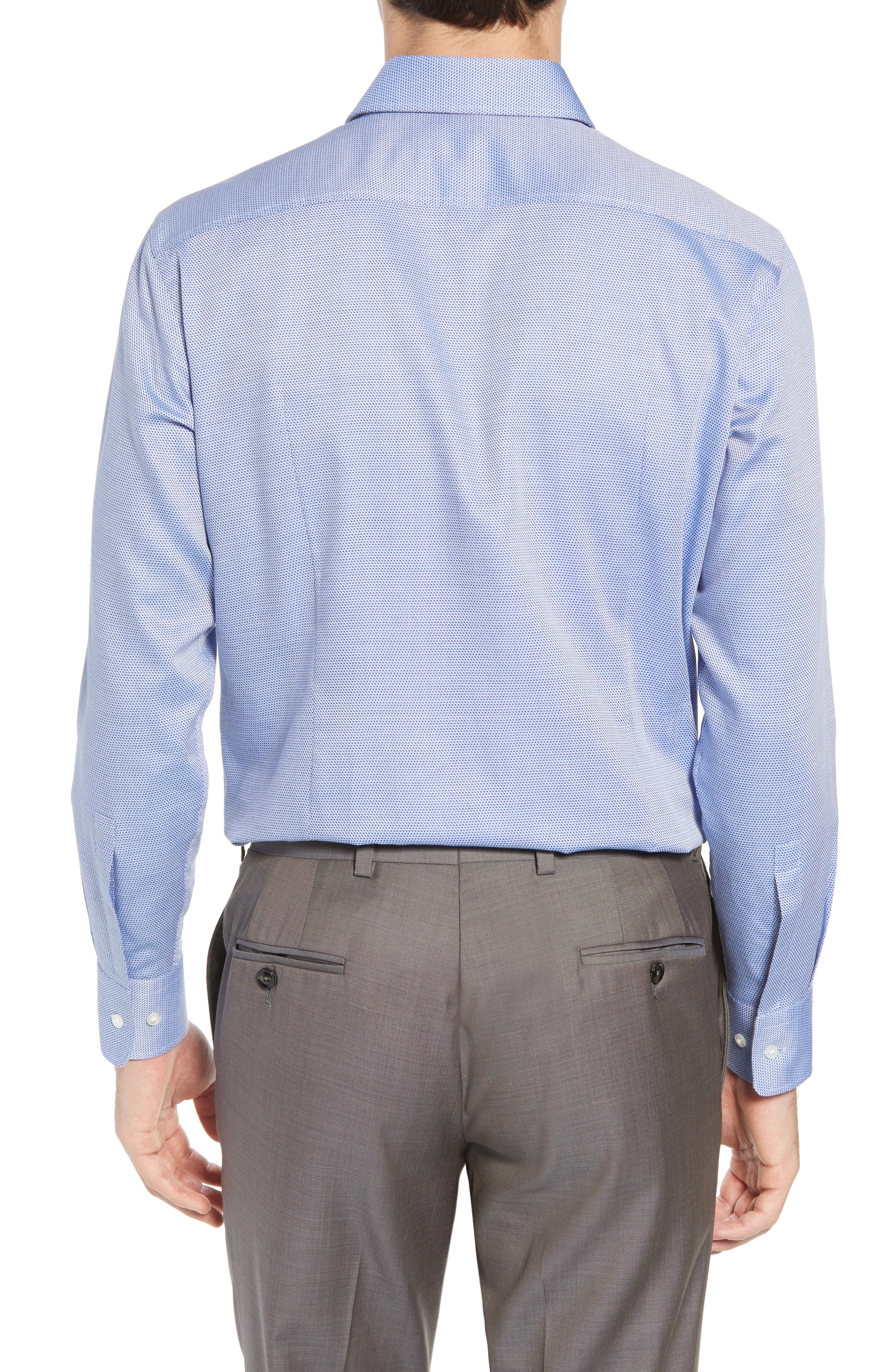Sharp Fit Dress Shirt,                             Alternate thumbnail 3, color,                             Blue