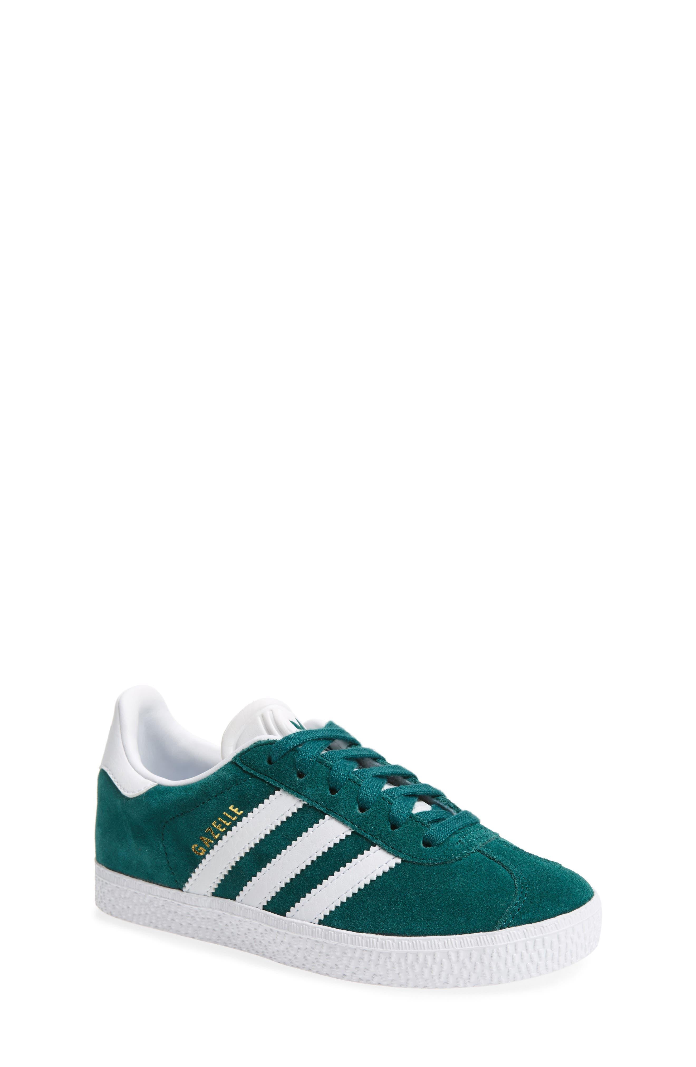 Gazelle Sneaker,                         Main,                         color, Noble Green/ White