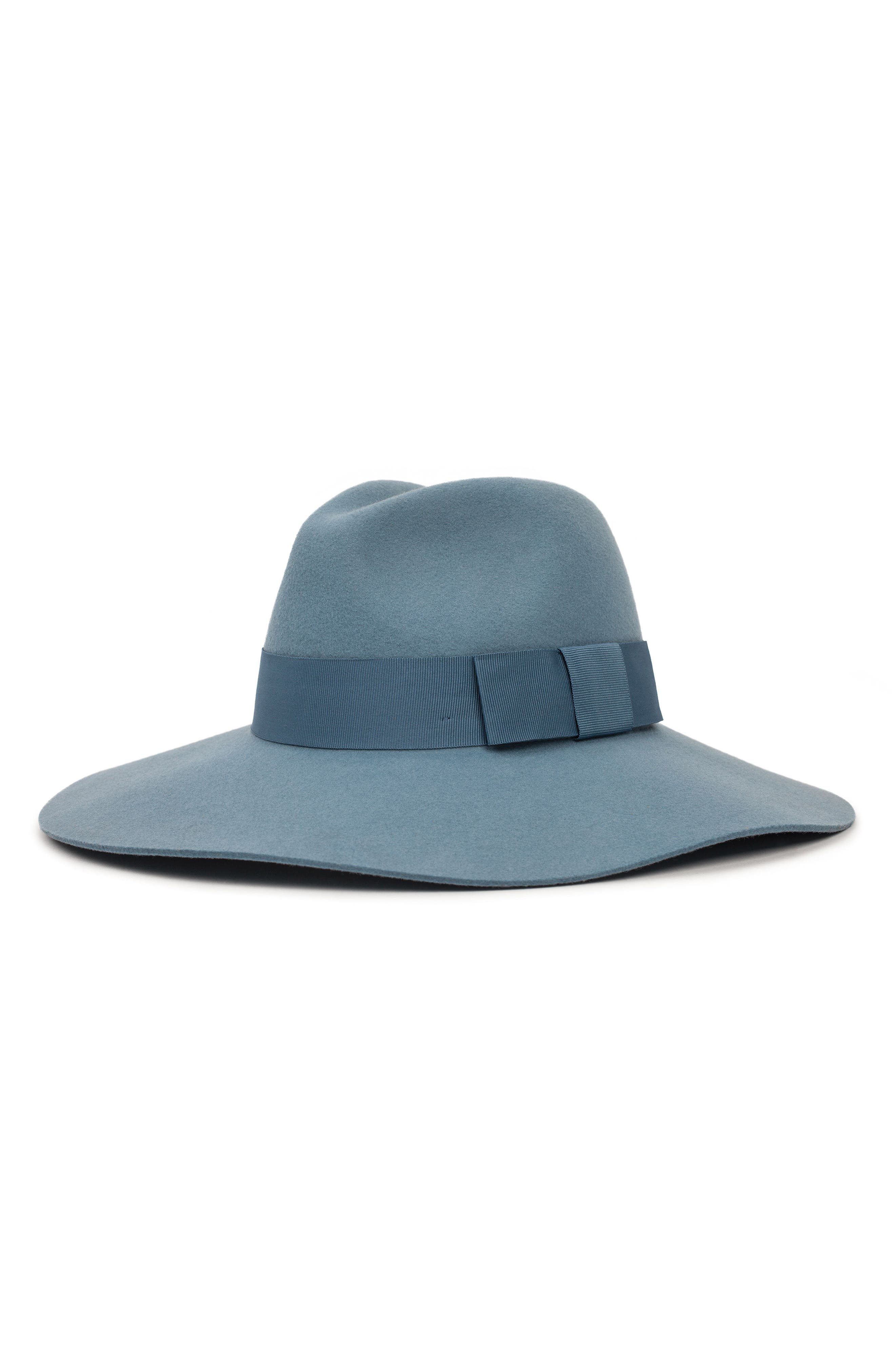 'Piper' Floppy Wool Hat,                         Main,                         color, Smoke Blue