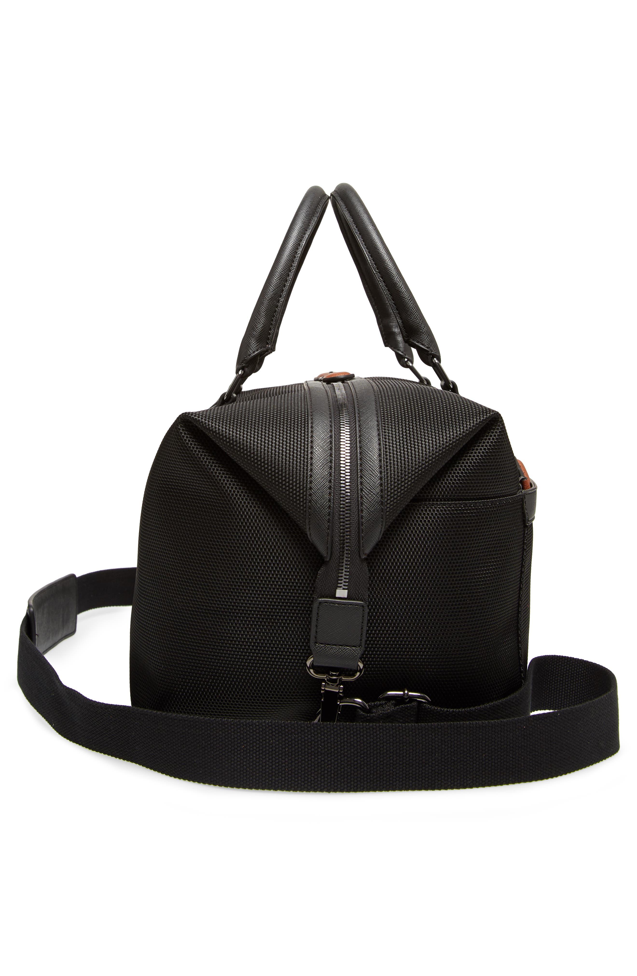 Smart Duffel Bag,                             Alternate thumbnail 5, color,                             Black