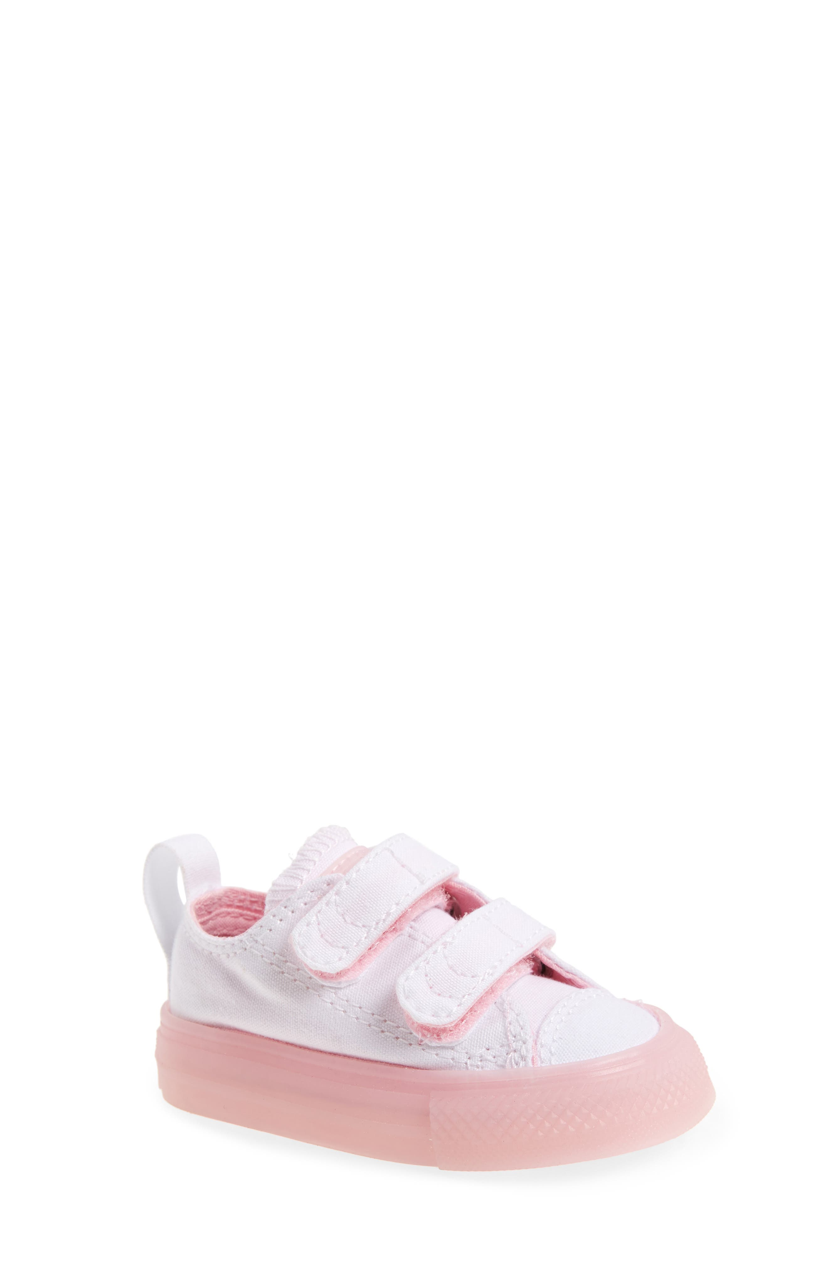 Chuck Taylor<sup>®</sup> All Star<sup>®</sup> Jelly Sneaker,                         Main,                         color, White/ Cherry