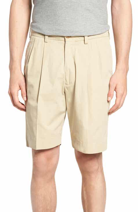 Bills Khakis Classic Fit Pleated Tropical Poplin Shorts 612ba63ae