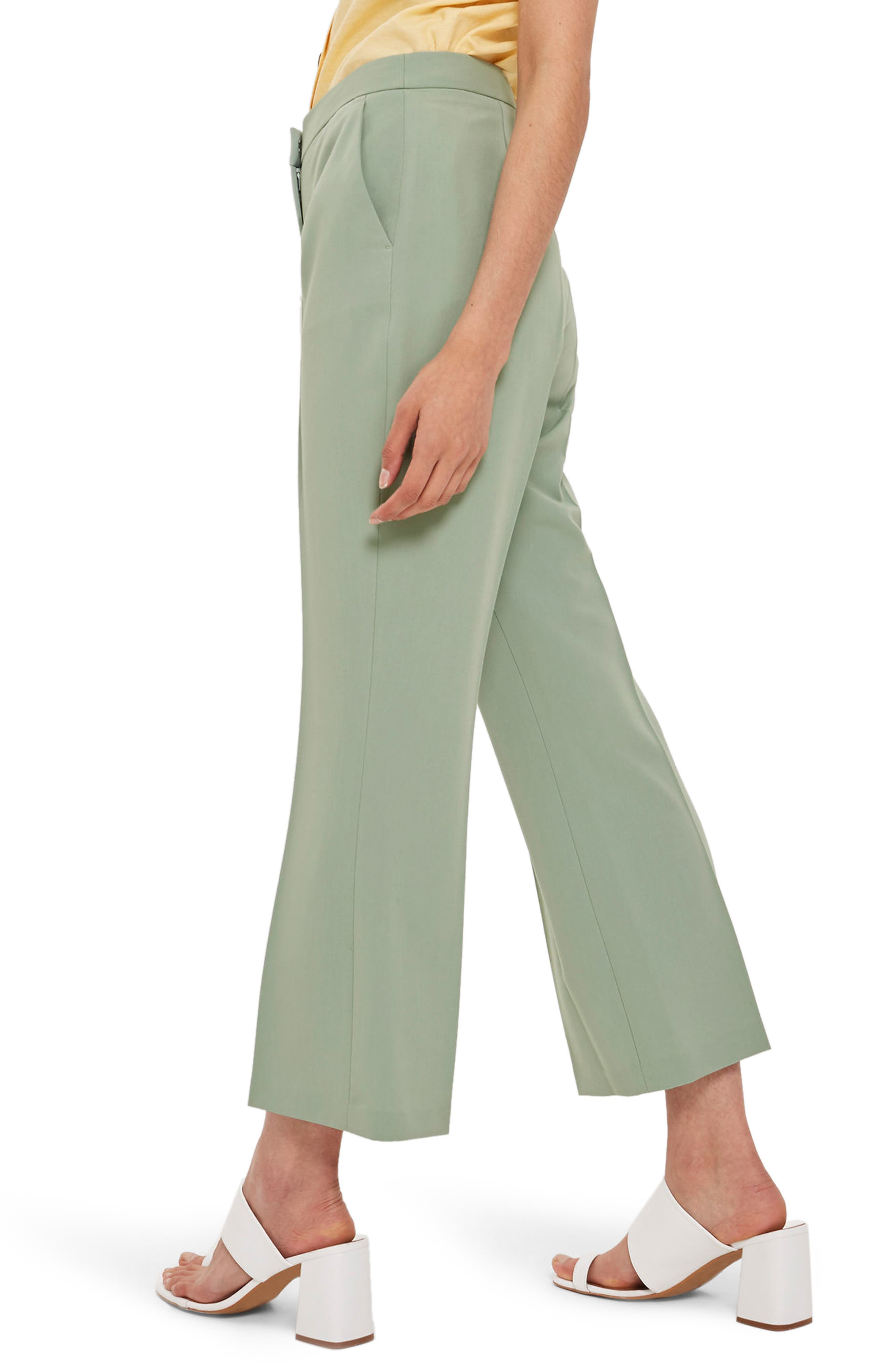 Cropped Suit Trousers,                             Alternate thumbnail 2, color,                             Light Green