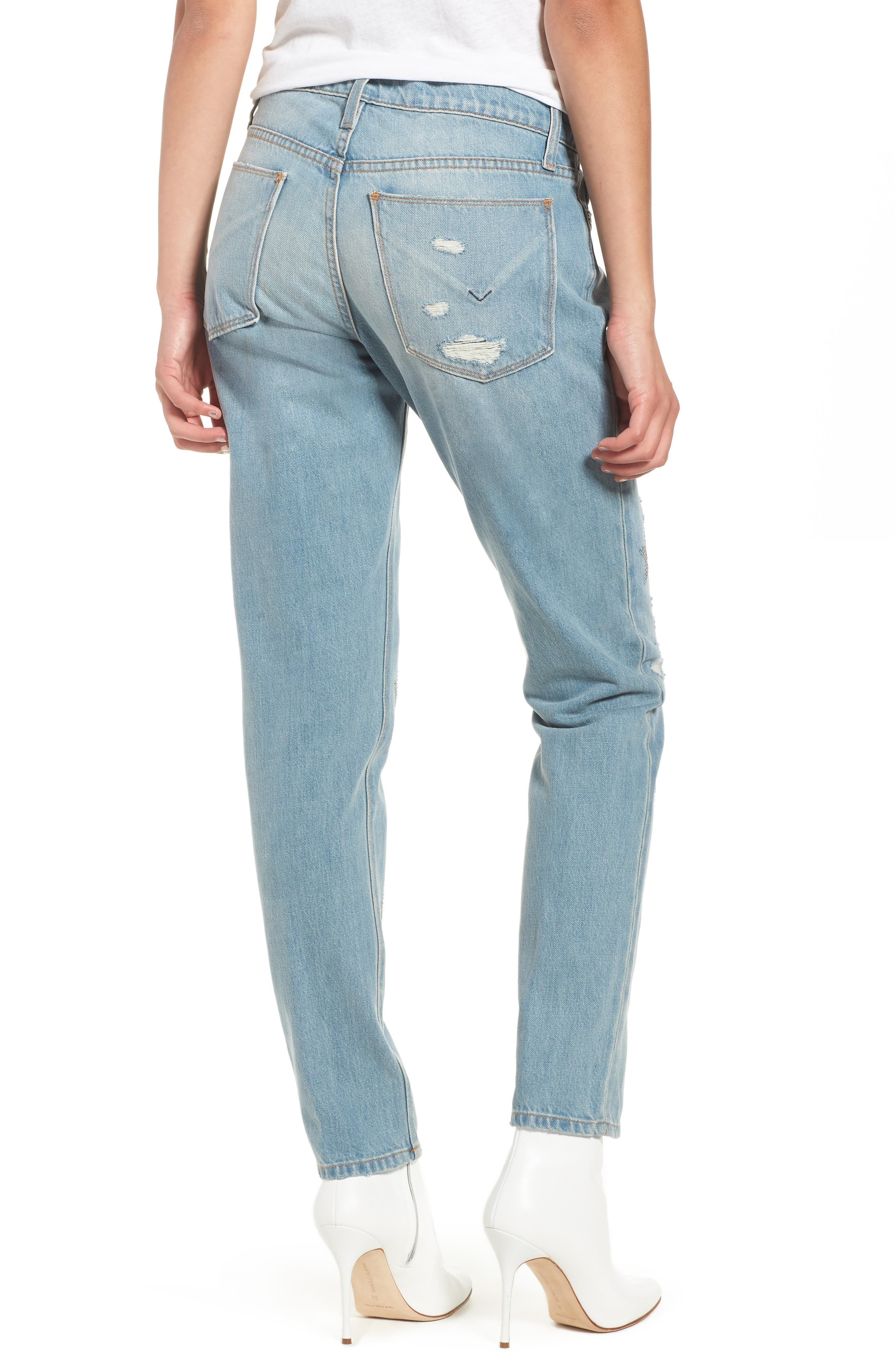 Riley Crop Relaxed Straight Leg Jeans,                             Alternate thumbnail 2, color,                             Amplify