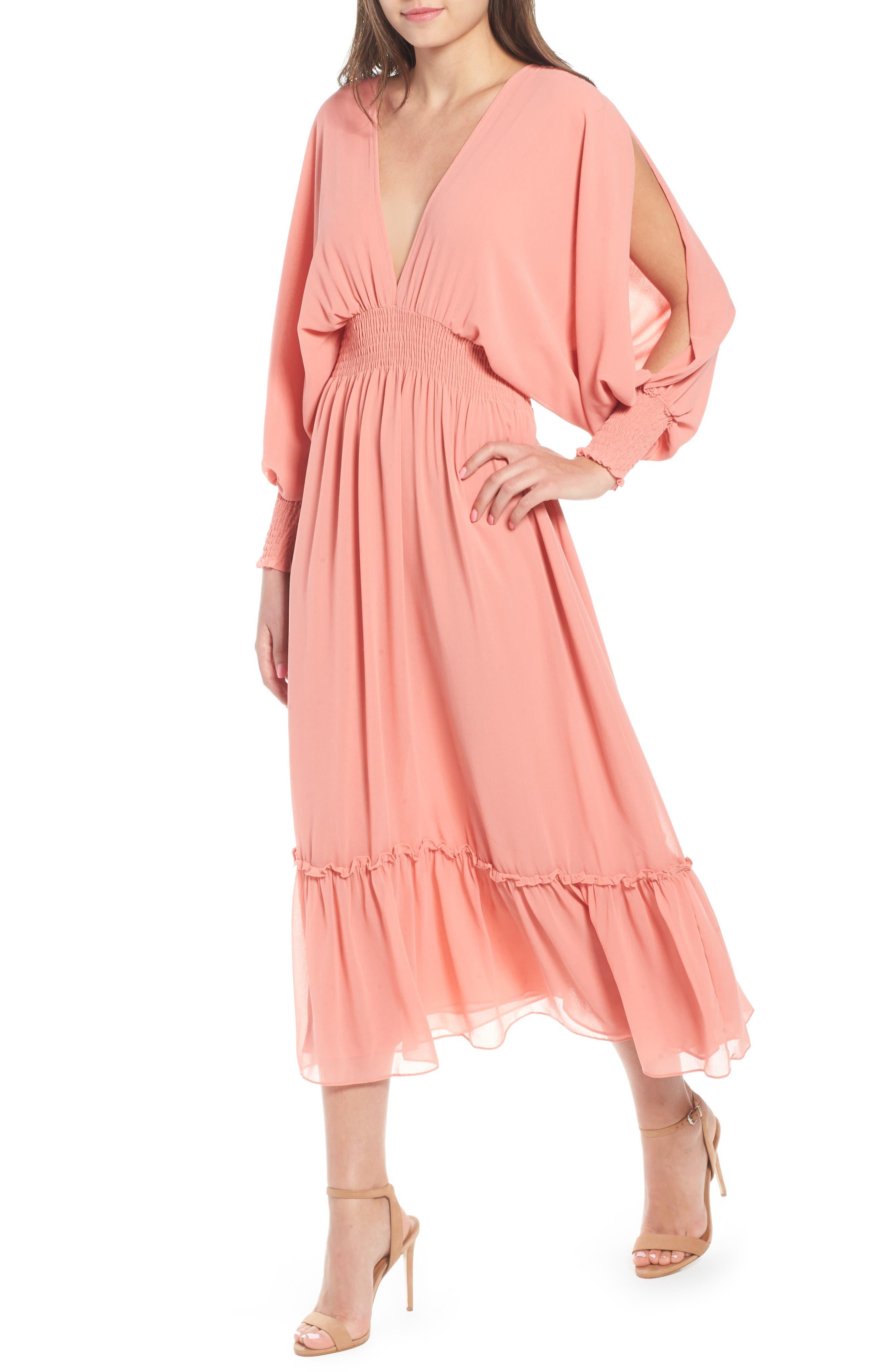 Margaux Midi Dress,                         Main,                         color, Blush