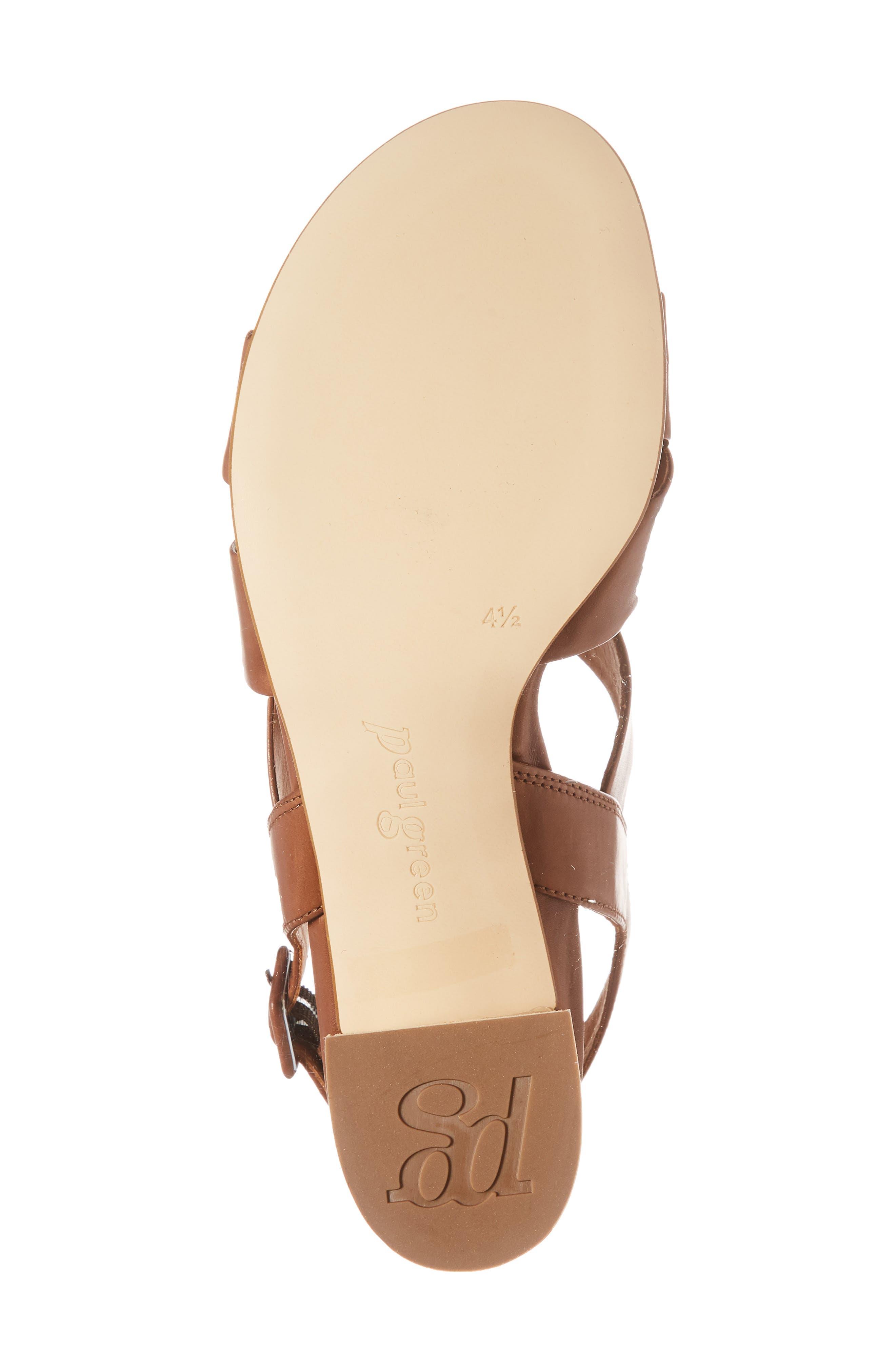 Reese Slingback Sandal,                             Alternate thumbnail 6, color,                             Nougat Leather