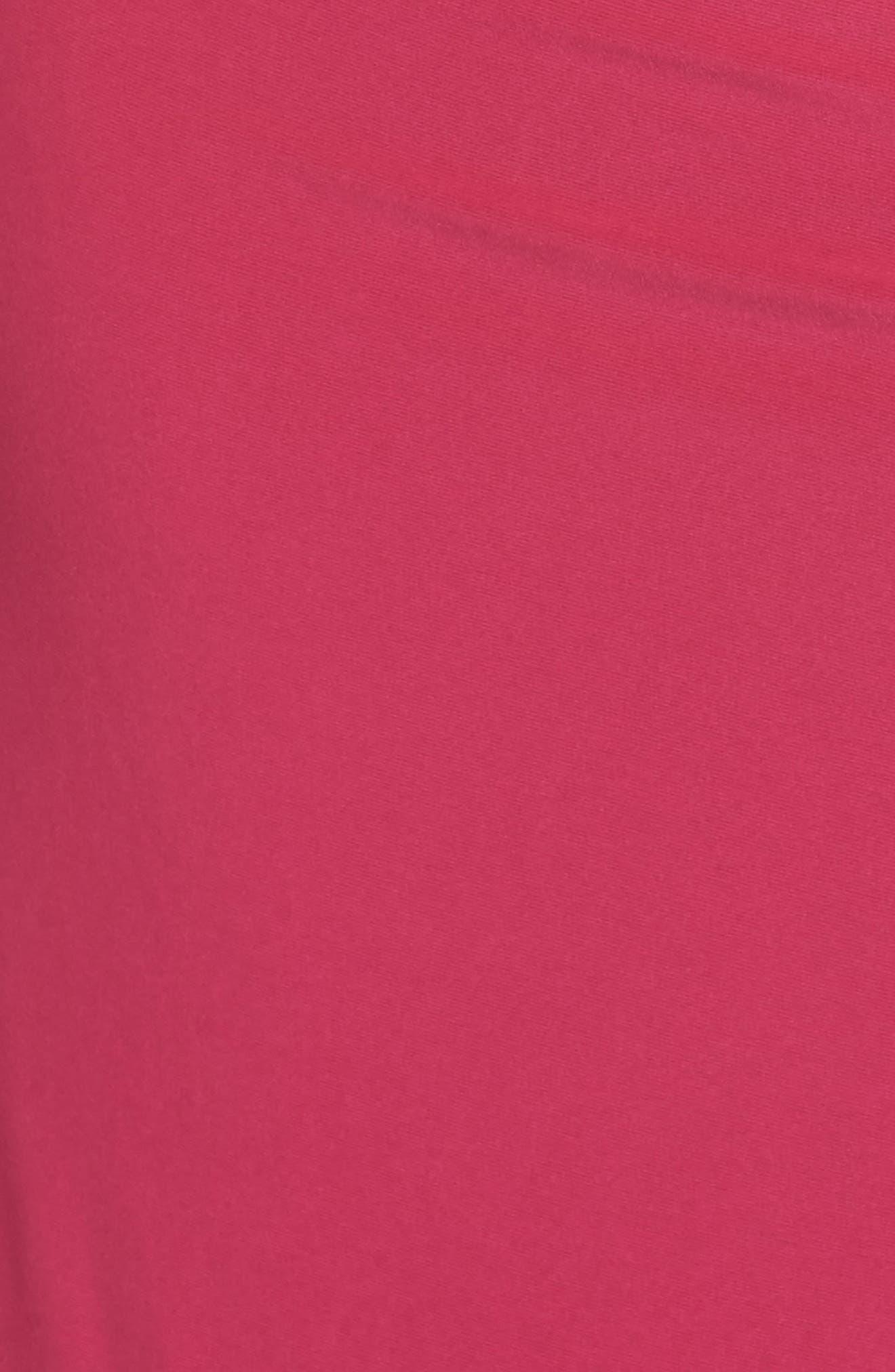 Off the Shoulder Jersey Dress,                             Alternate thumbnail 5, color,                             Bright Syrah
