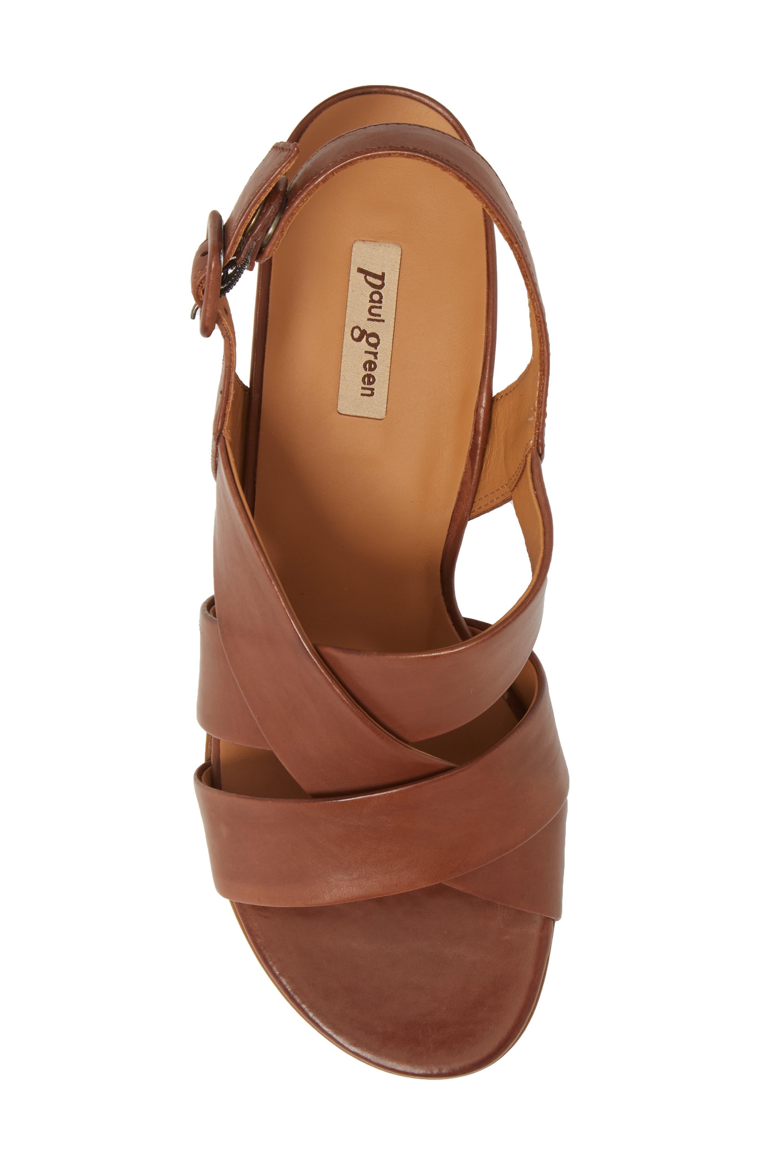 Reese Slingback Sandal,                             Alternate thumbnail 5, color,                             Nougat Leather