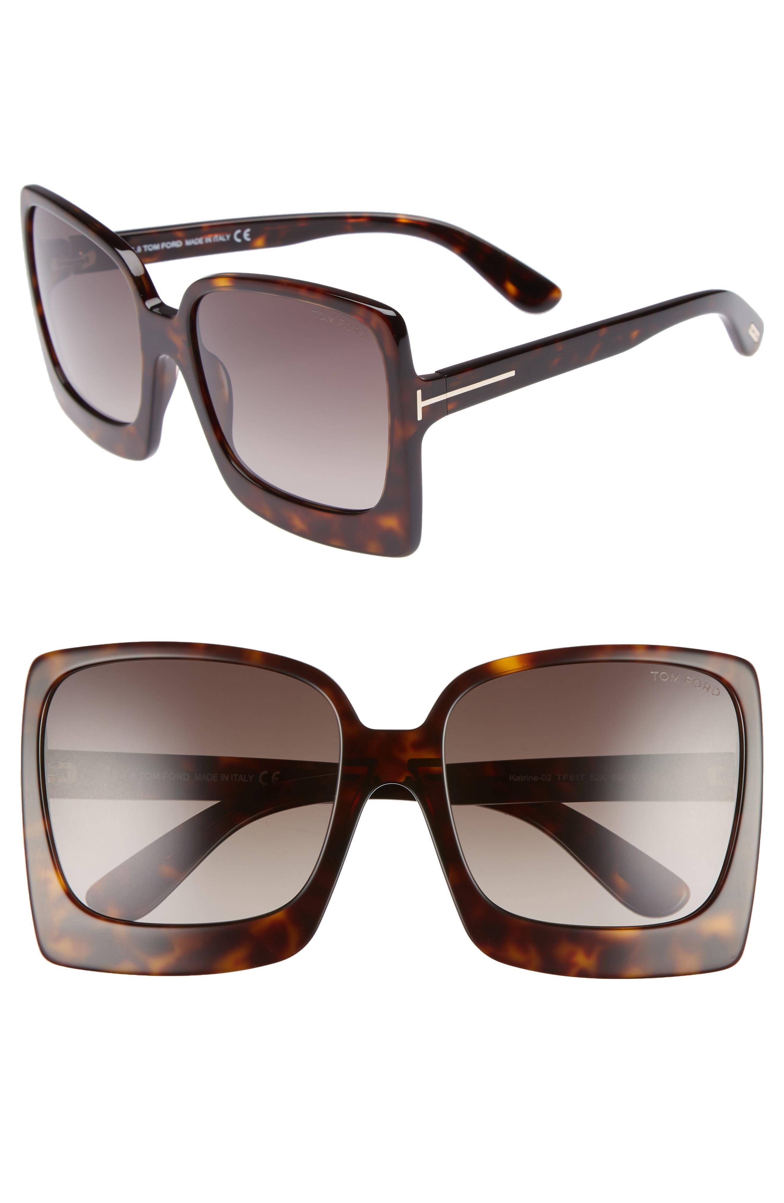 Katrine 60mm Sunglasses,                         Main,                         color, Dark Havana/ Gradient Roviex
