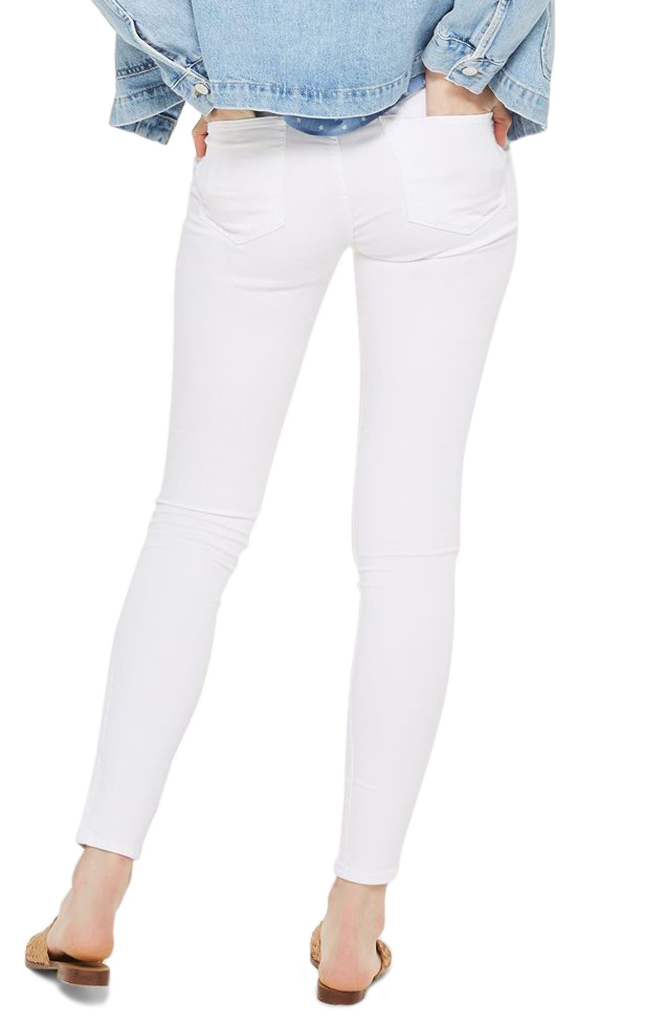 Leigh Skinny Jeans,                             Alternate thumbnail 2, color,                             White