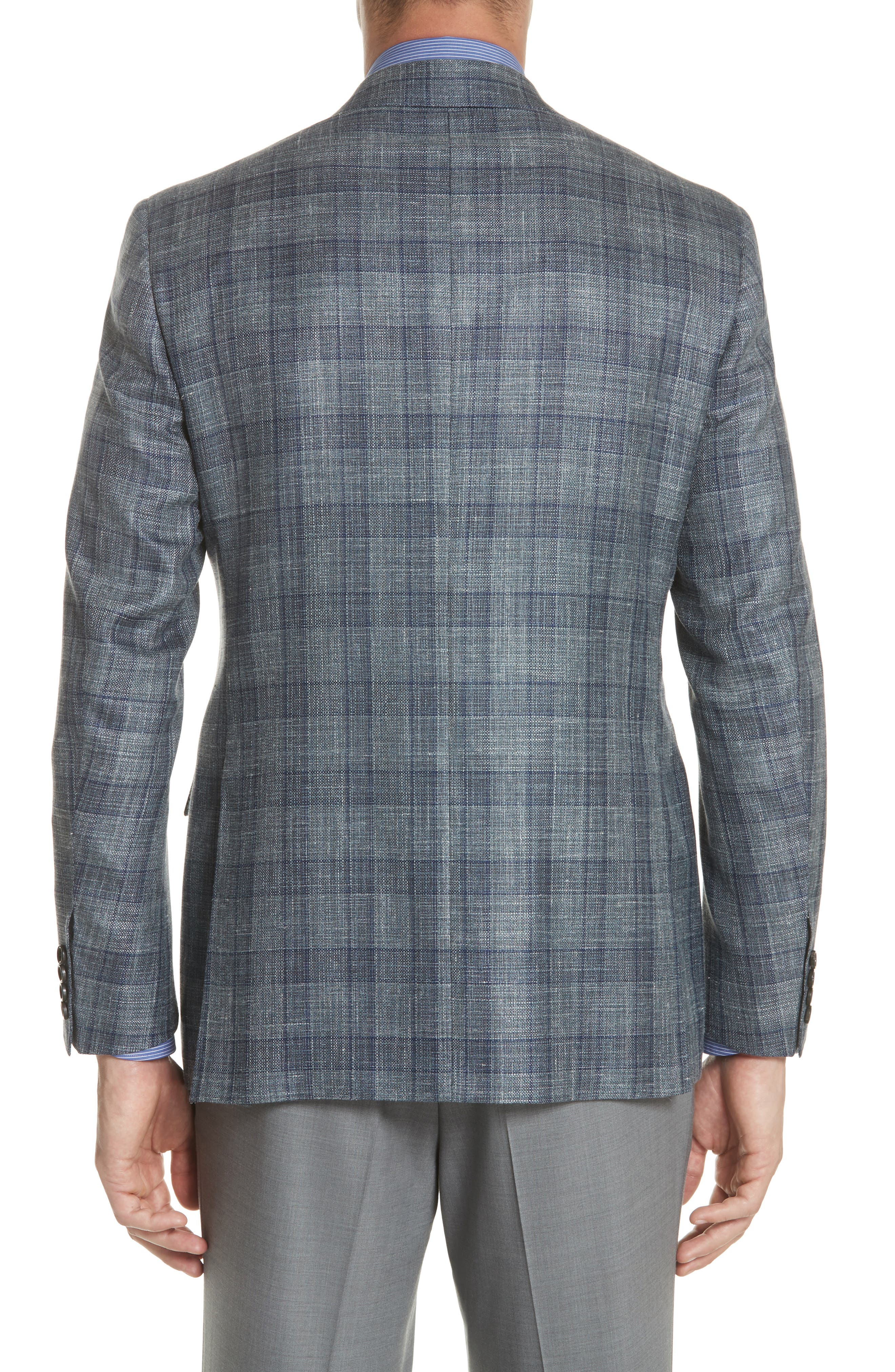 Classic Fit Wool Blend Check Sport Coat,                             Alternate thumbnail 2, color,                             Grey