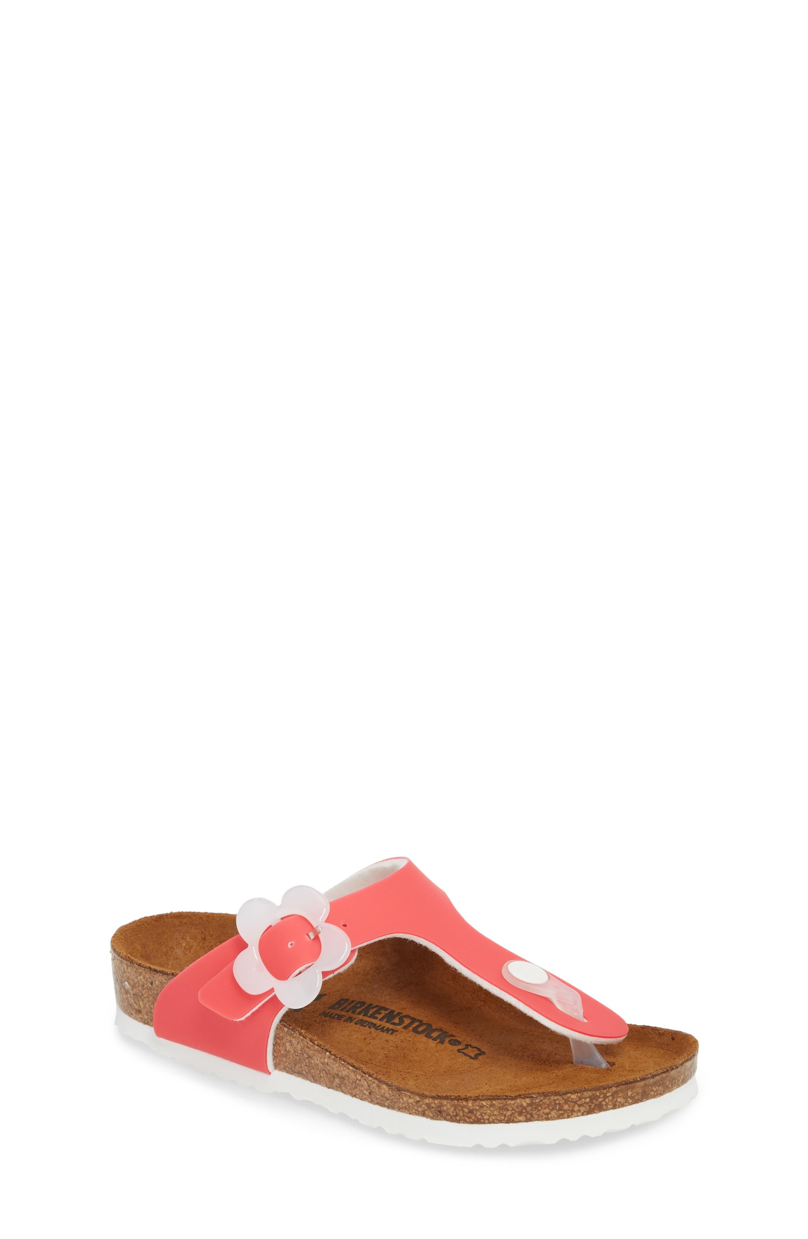 Birkenstock Gizeh Flowered Thong Sandal (Toddler & Little Kid)