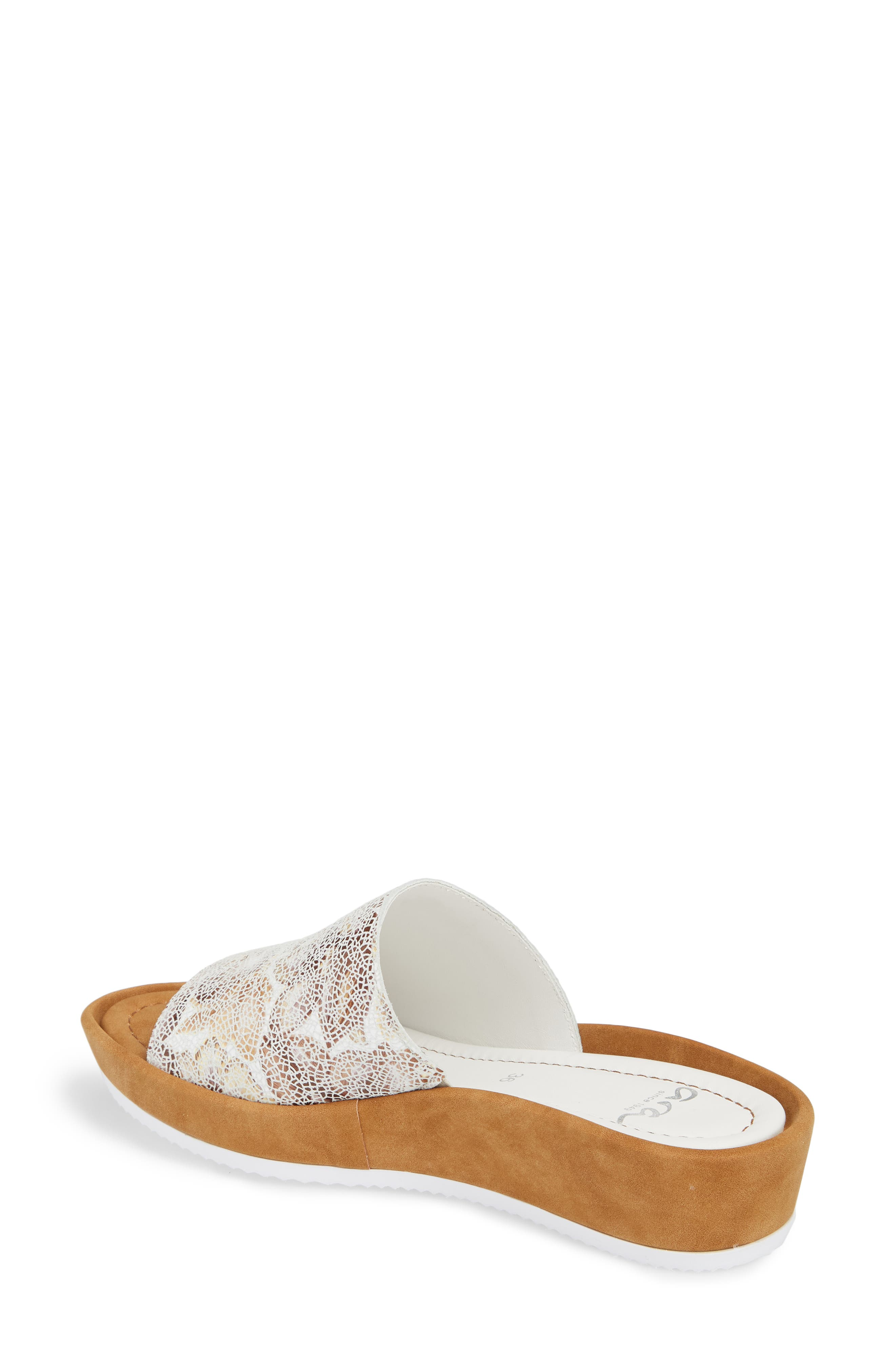 Tania Platform Wedge Slide Sandal,                             Alternate thumbnail 2, color,                             Taupe Leather