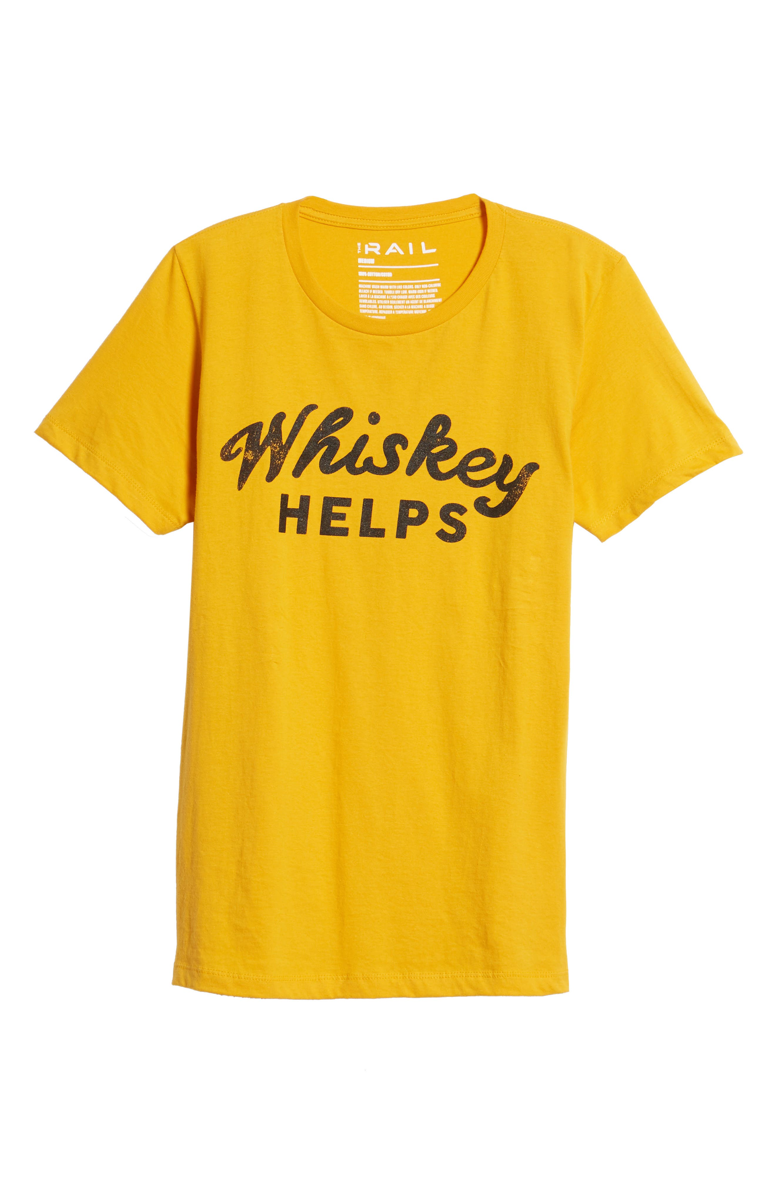 Whiskey Helps T-Shirt,                             Alternate thumbnail 6, color,                             Yellow Whiskey Helps