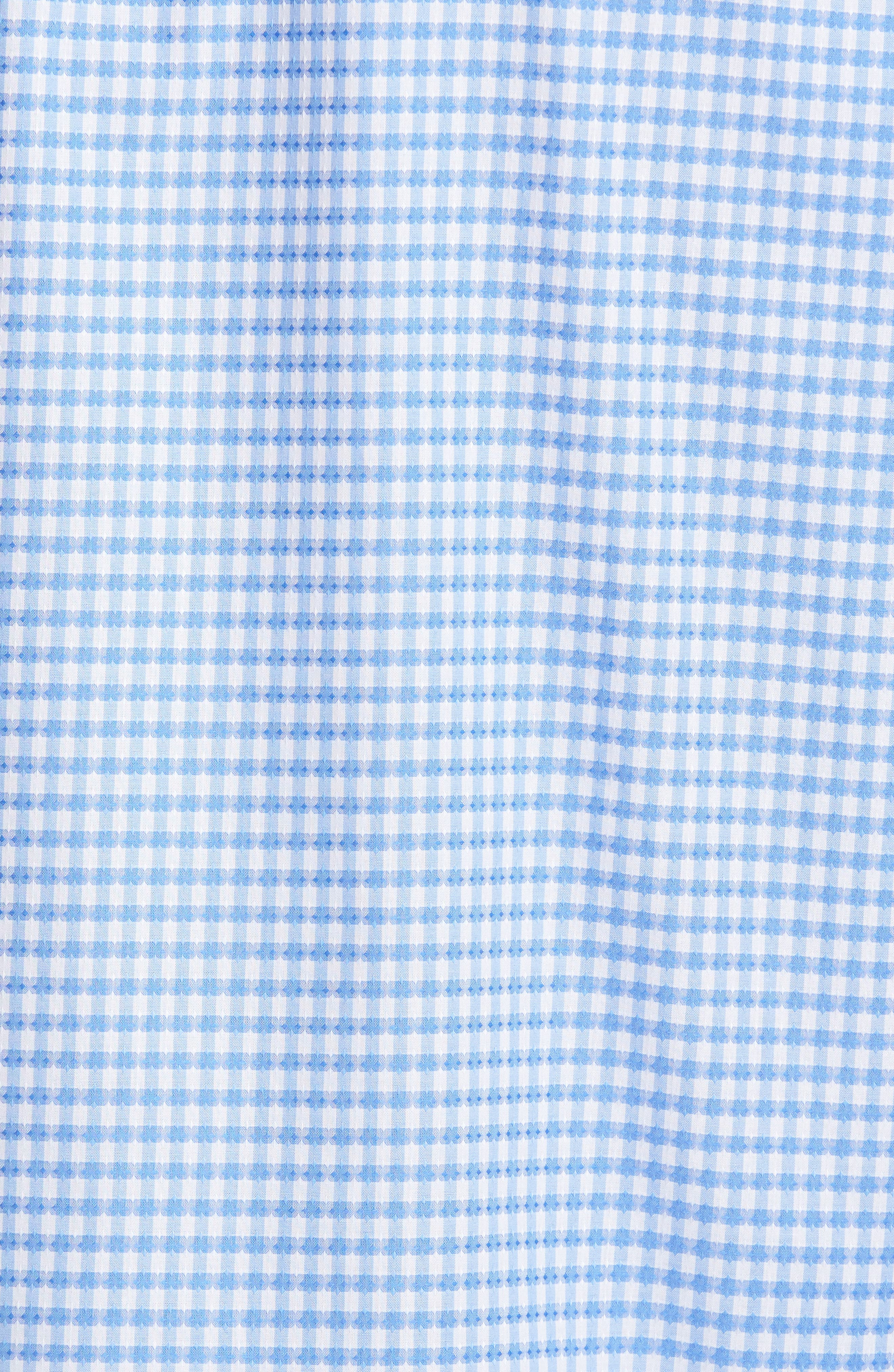 Alternate Image 5  - Bugatchi Classic Fit Mini Check Sport Shirt