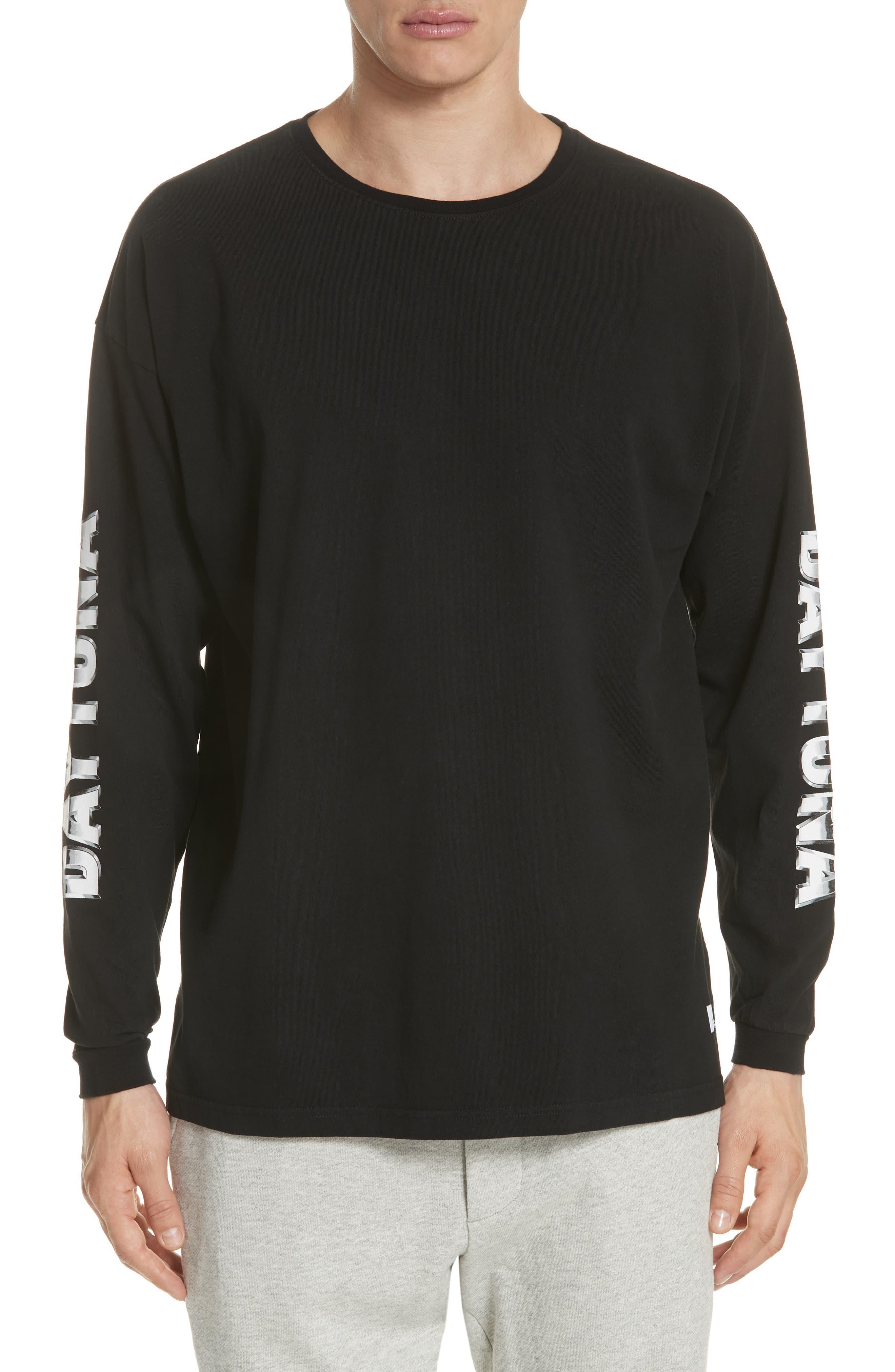 Metal Graphic Long Sleeve T-Shirt,                         Main,                         color, Black