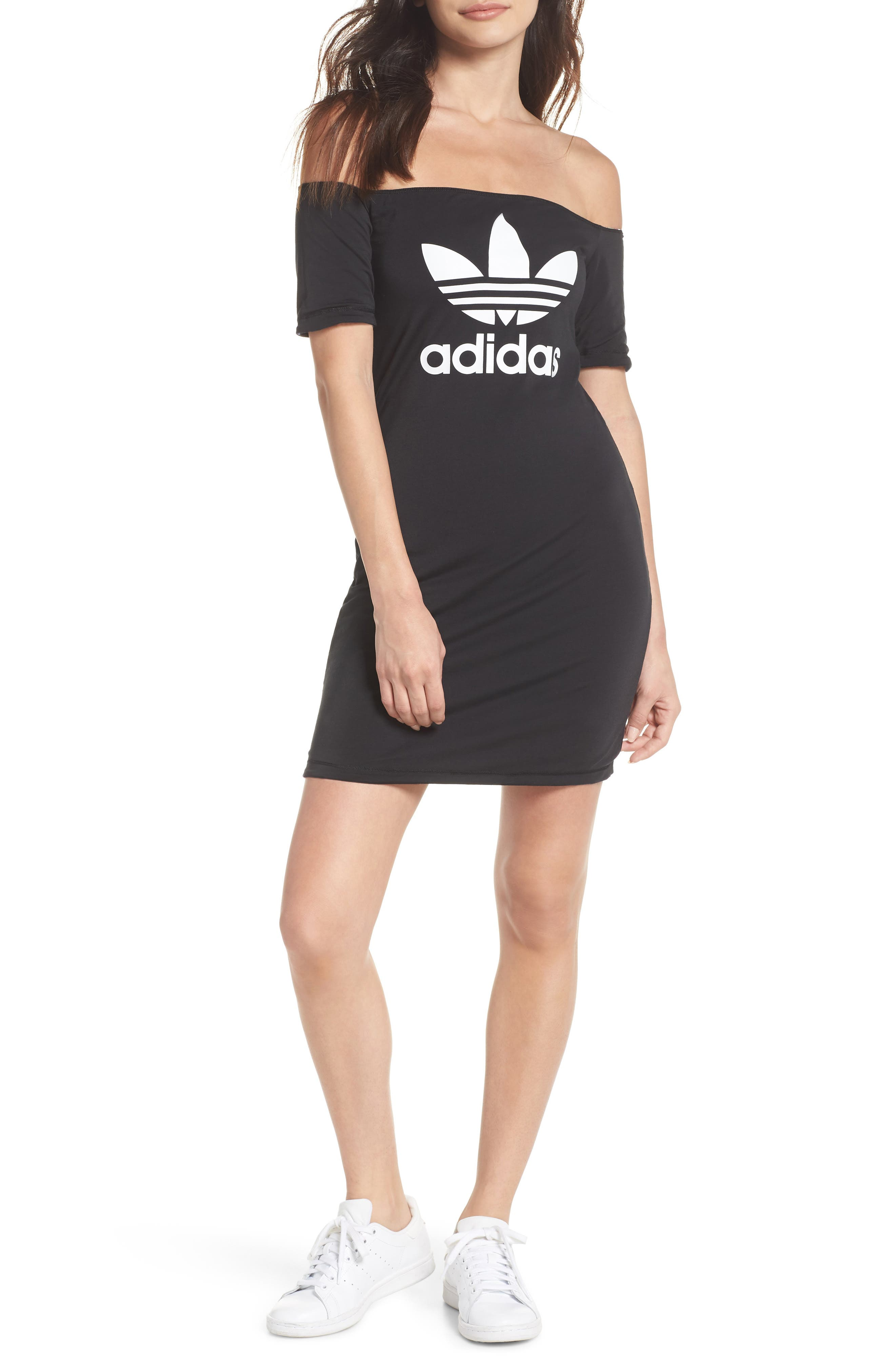 Alternate Image 2  - adidas Originals Reversible Off the Shoulder Dress