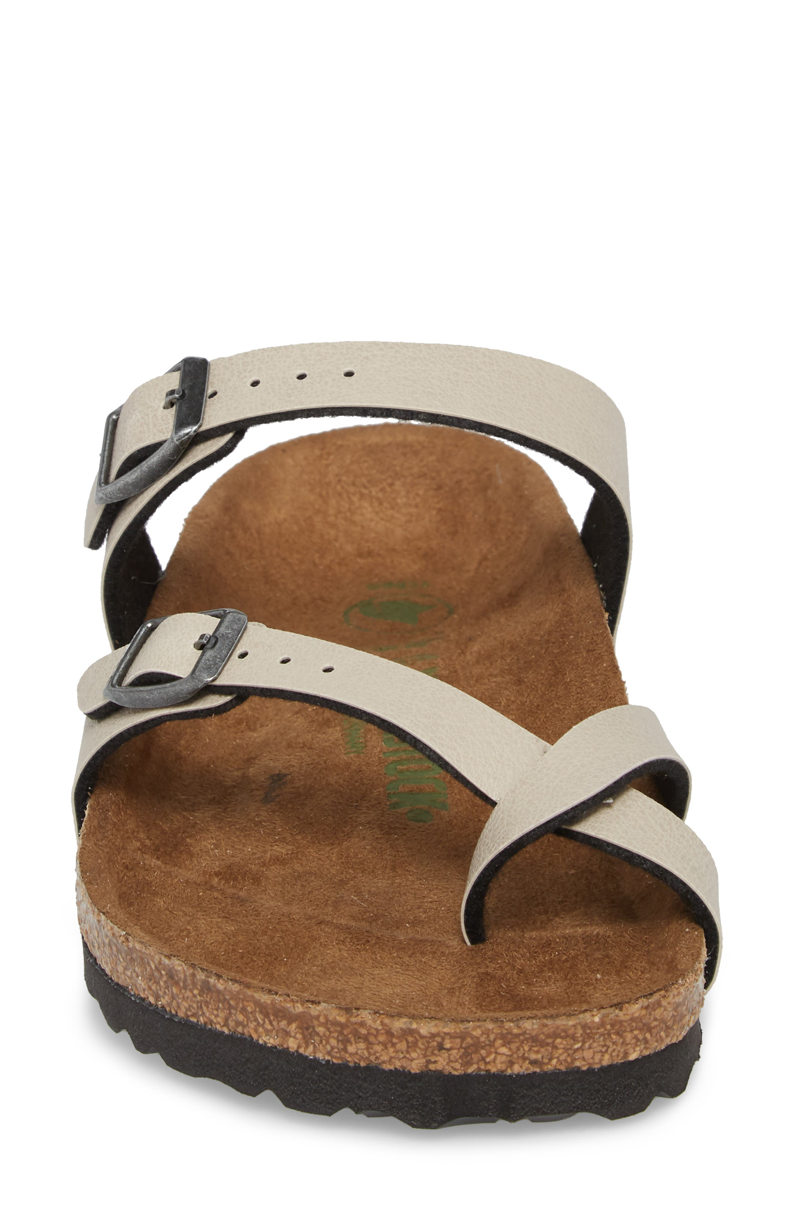 Mayari Birko-Flor<sup>™</sup> Slide Sandal,                             Alternate thumbnail 4, color,                             Pull Up Stone Faux Leather