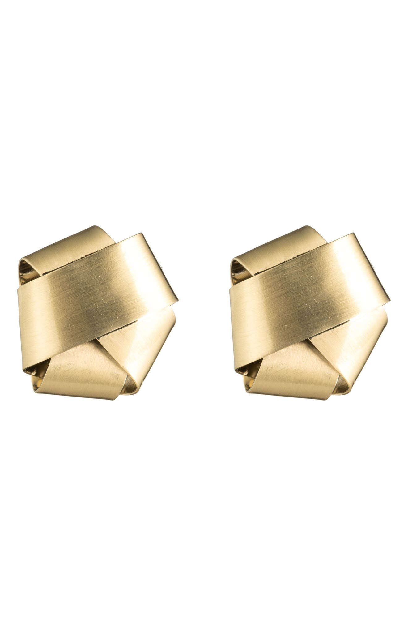 Alexis Bittar Folded Knot Stud Earrings
