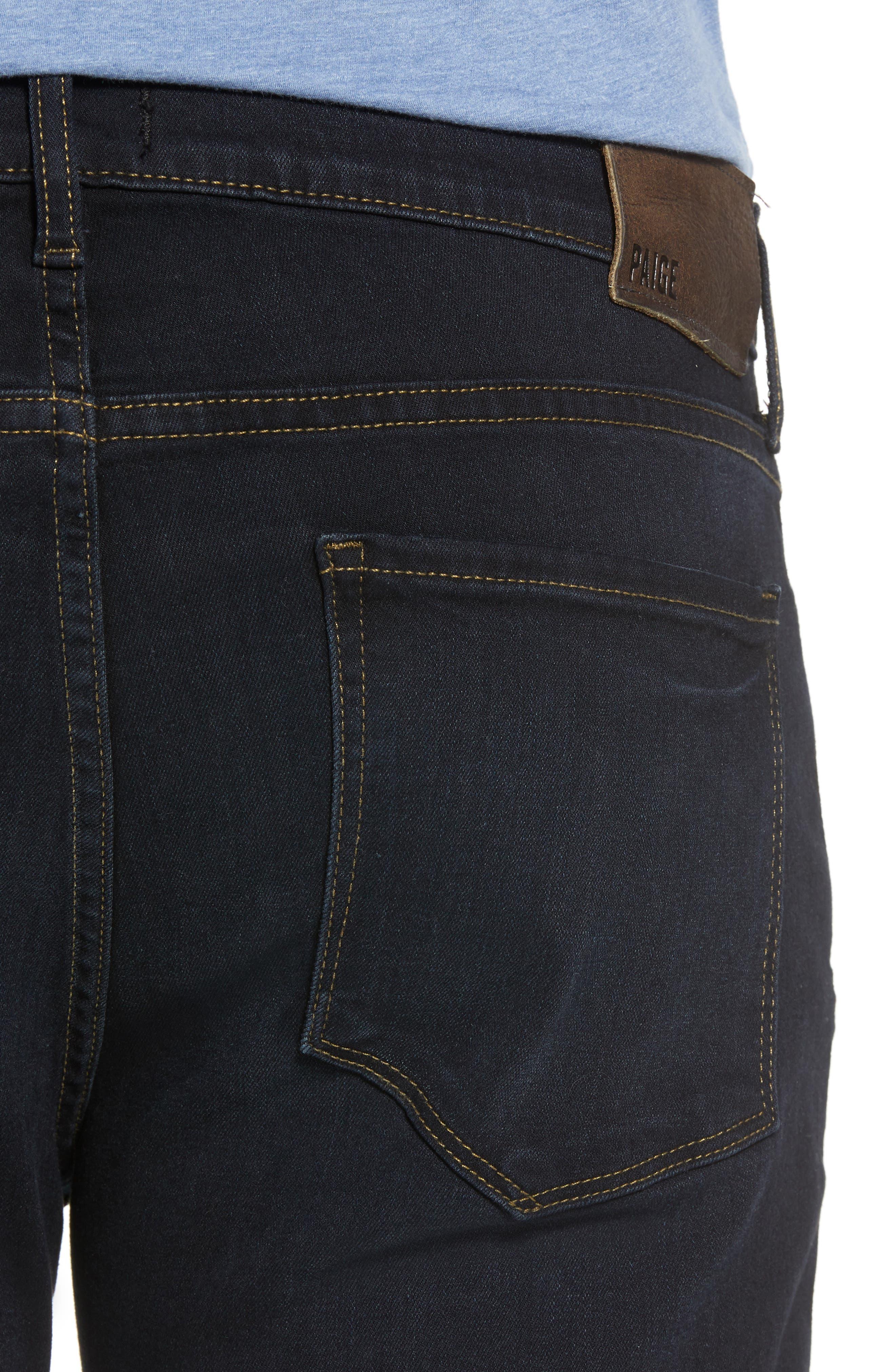 Transcend - Normandie Straight Leg Jeans,                             Alternate thumbnail 4, color,                             Ron