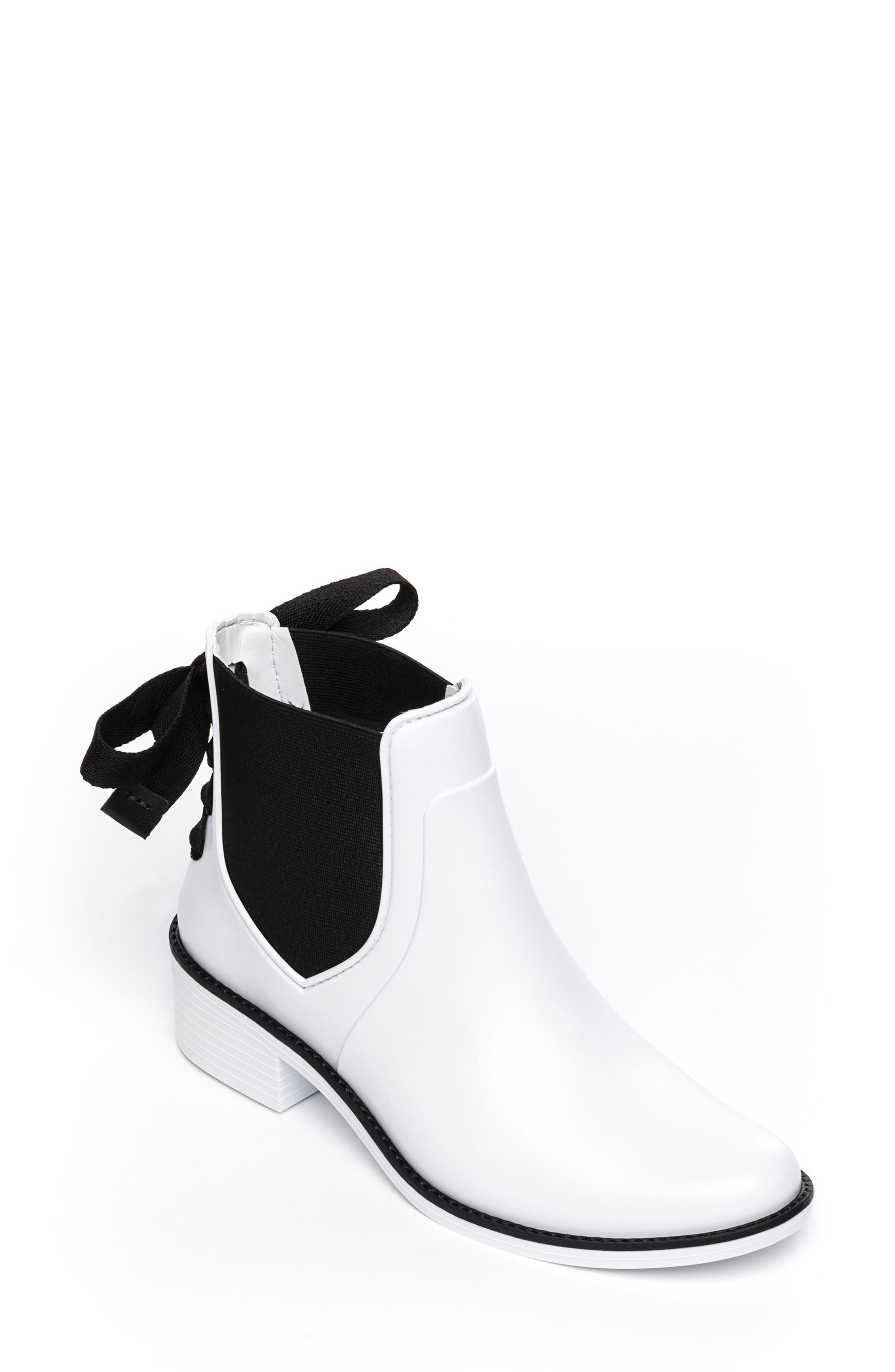 Paige Rain Boot,                         Main,                         color, White