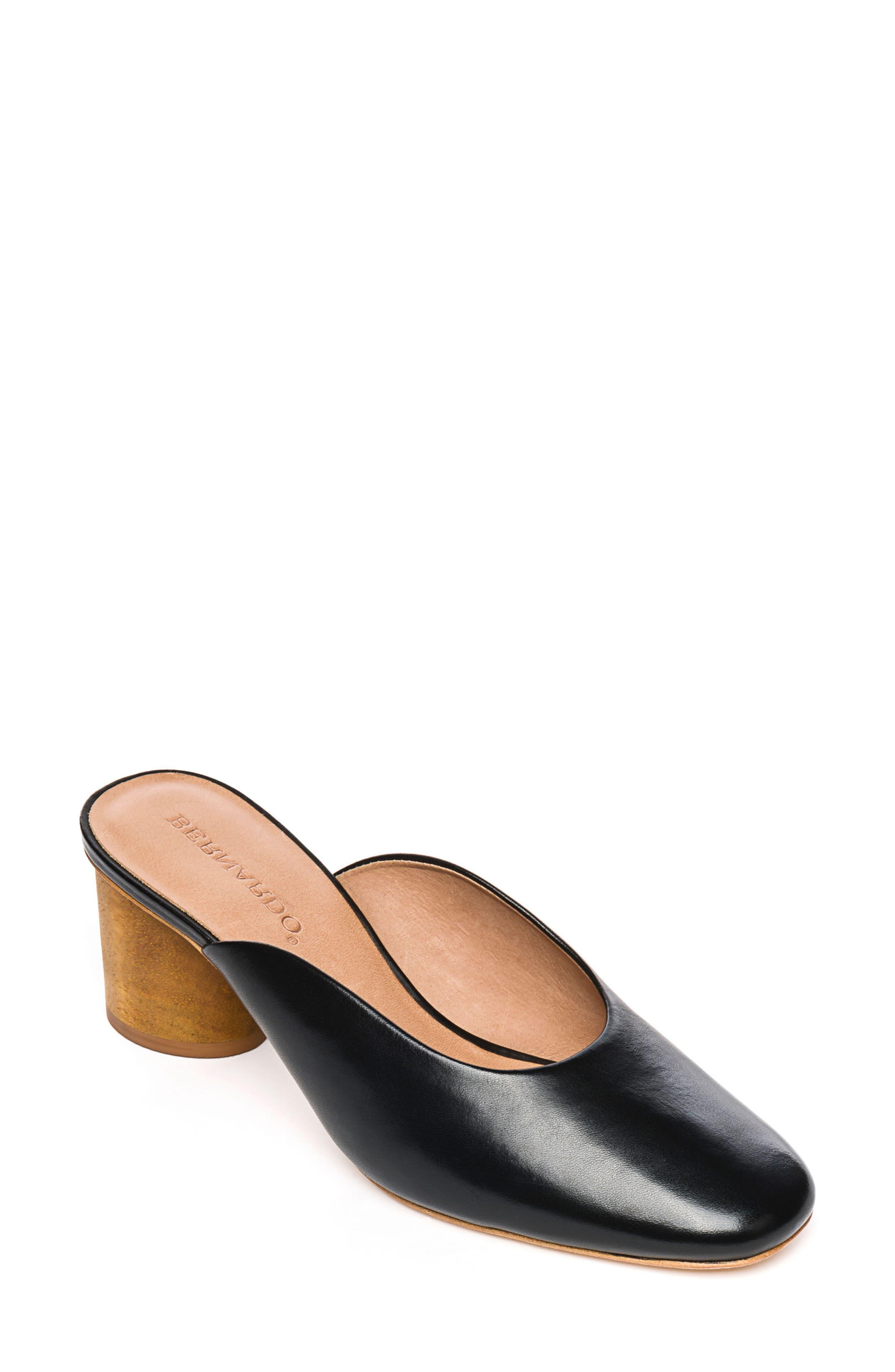 Bernardo Irena Mule,                         Main,                         color, Black Leather