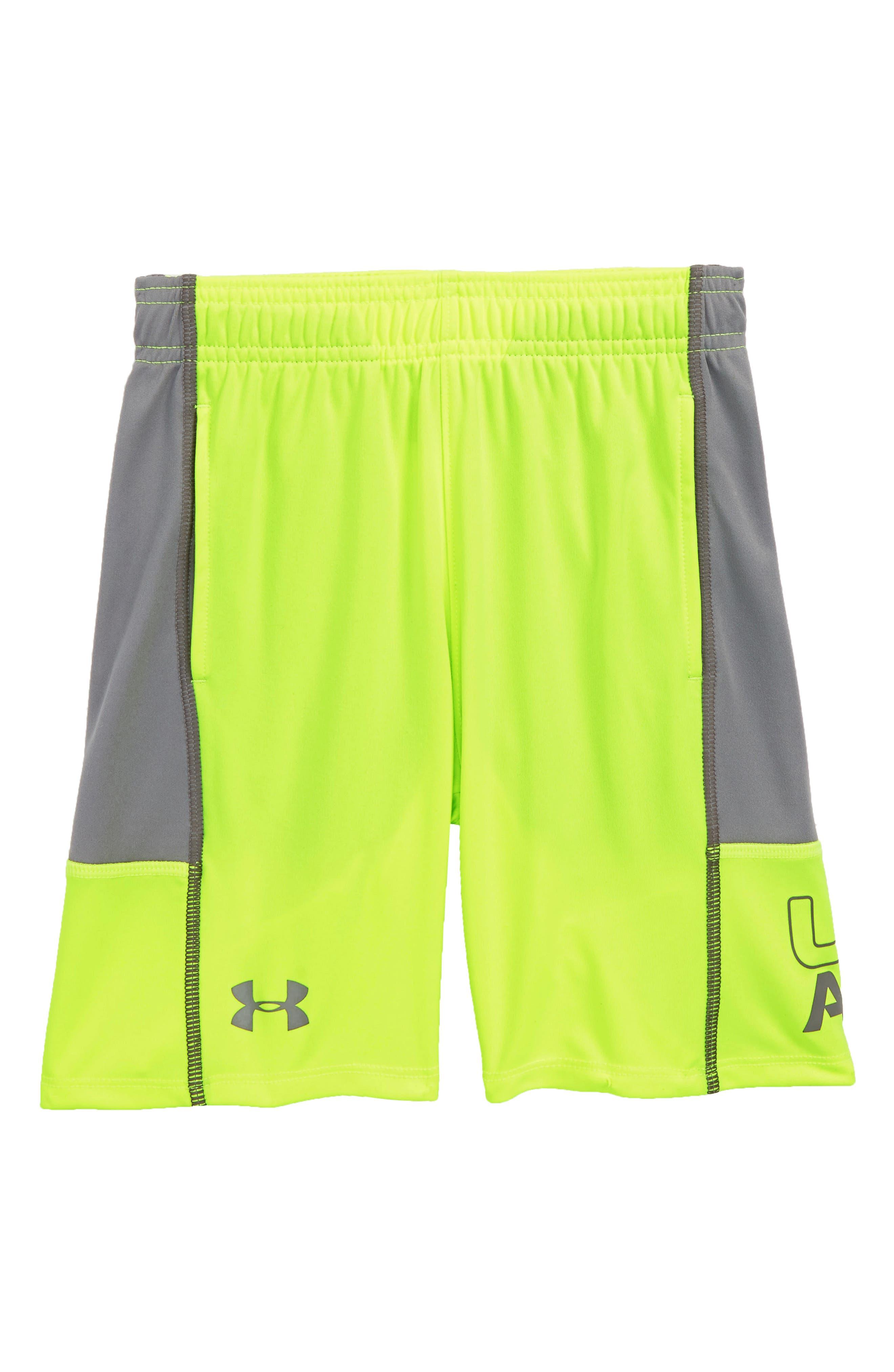 Stunt Shorts,                             Main thumbnail 1, color,                             Hi Vis Yellow Distinction