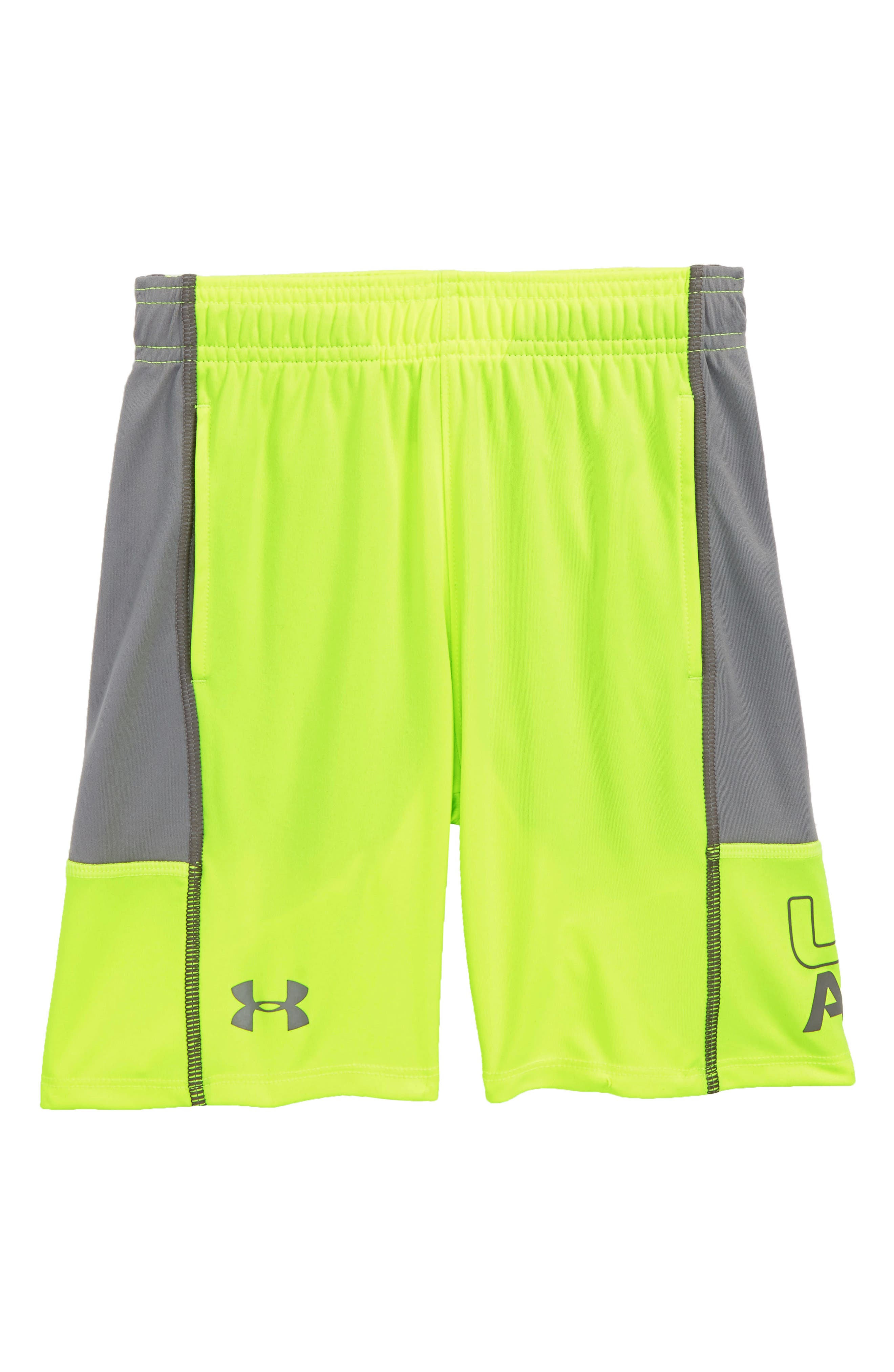 Stunt Shorts,                         Main,                         color, Hi Vis Yellow Distinction