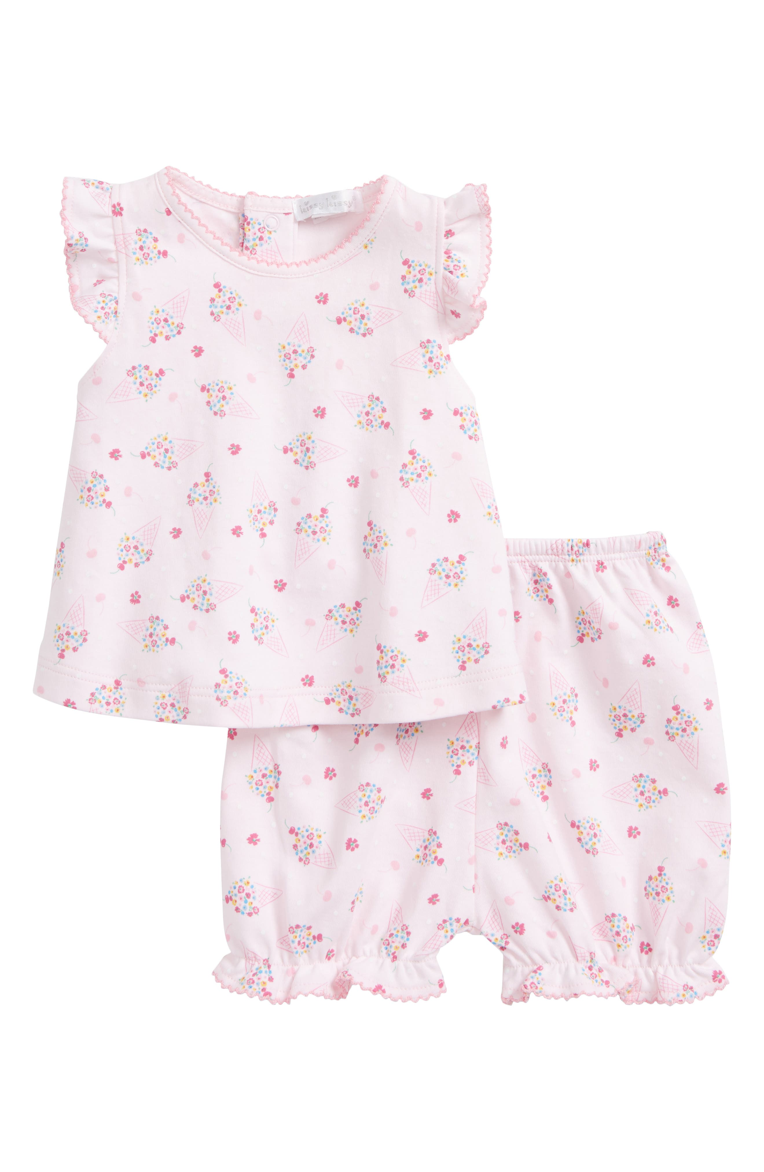 Kissy Kissy Cherry on Top Print Top & Shorts Set (Baby Girls)