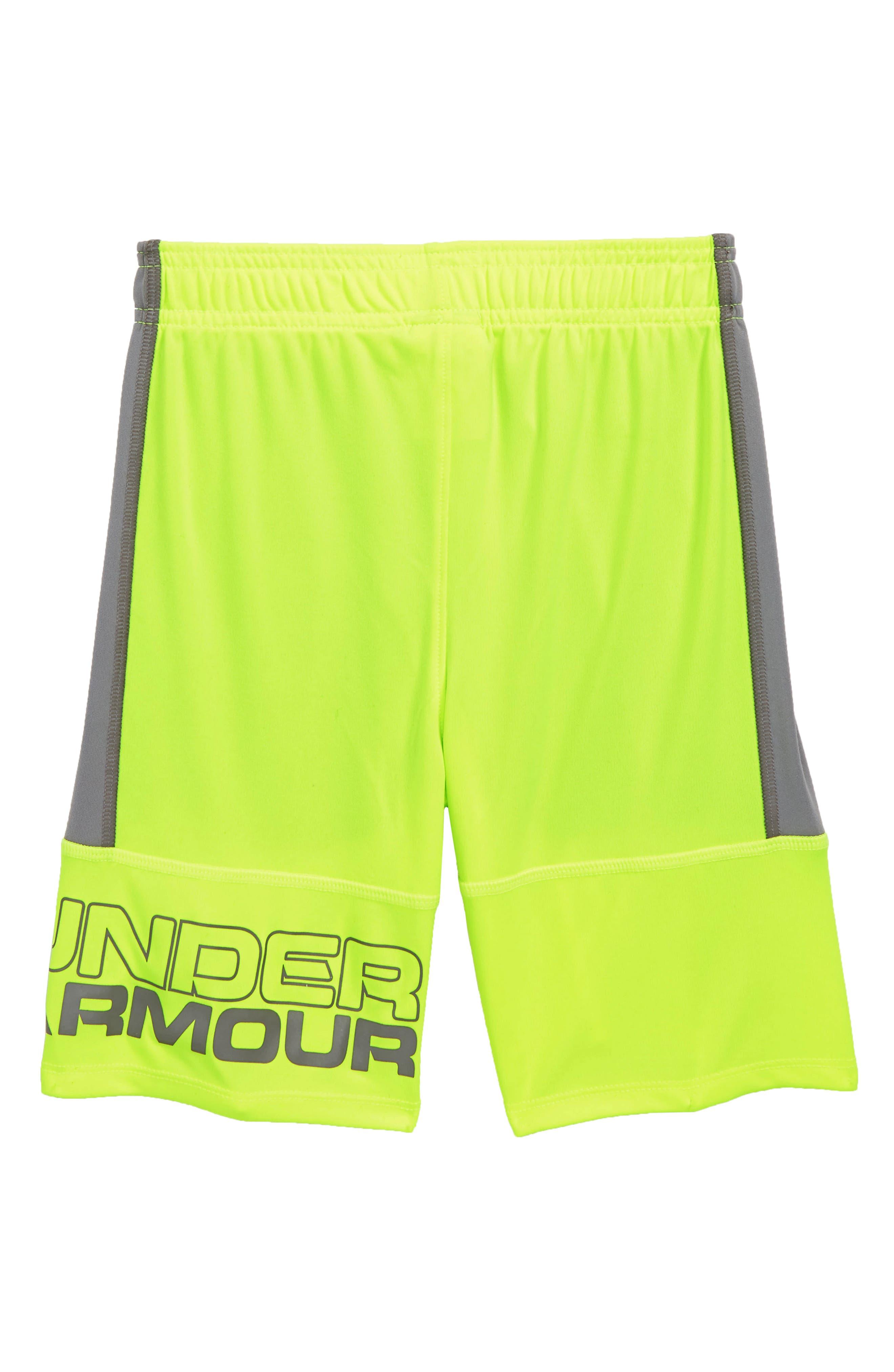 Stunt Shorts,                             Alternate thumbnail 2, color,                             Hi Vis Yellow Distinction
