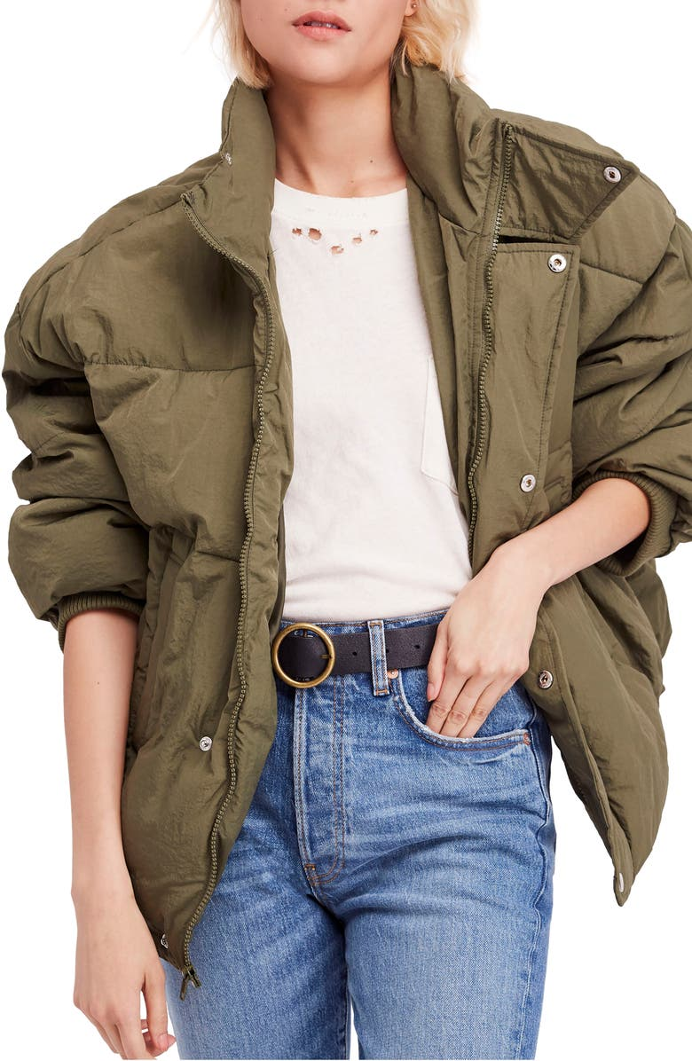 Cold Rush Puffer Jacket,                         Main,                         color, Moss