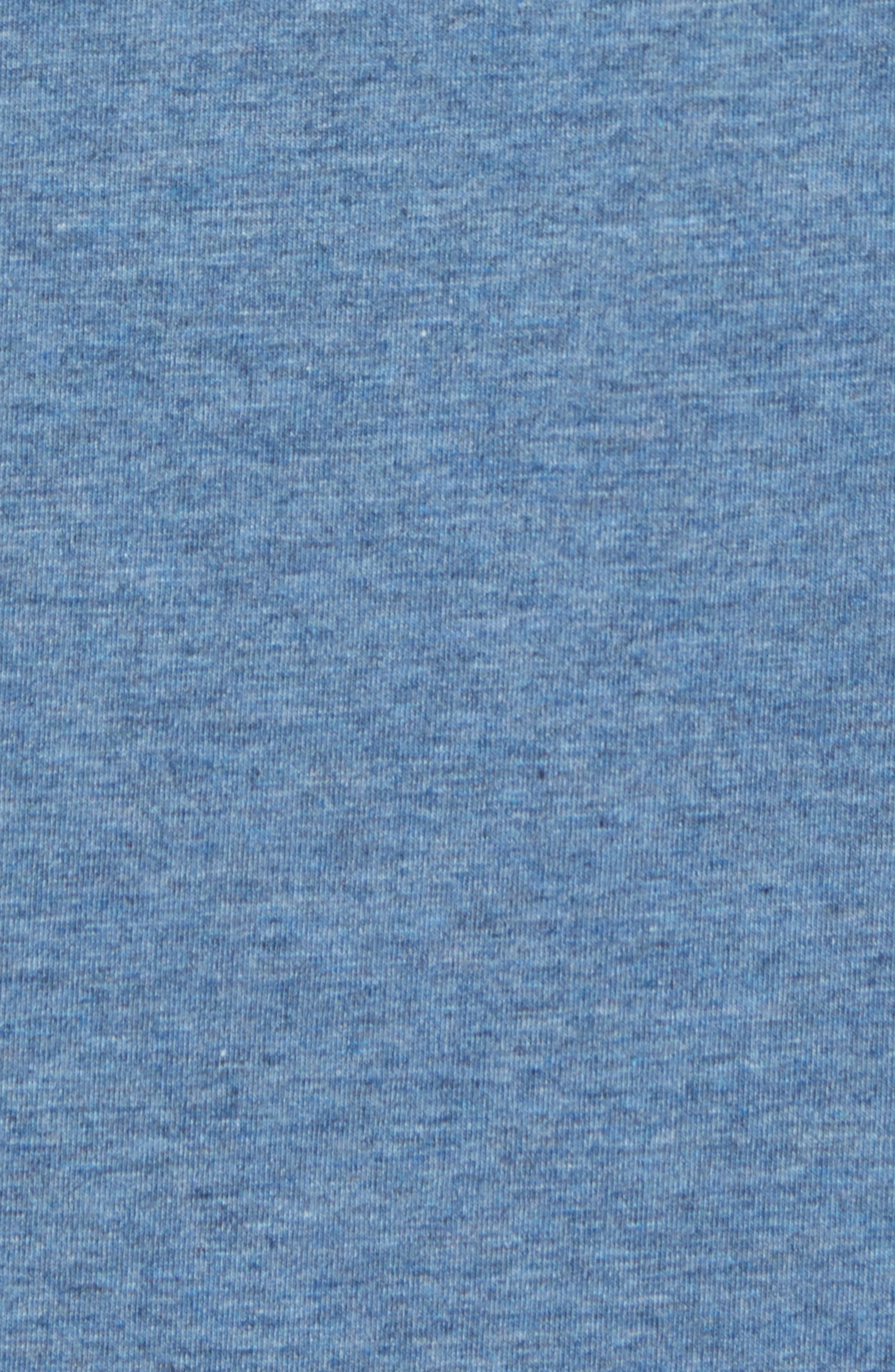 Nantucket Fitted T-Shirt,                             Alternate thumbnail 5, color,                             Indigo Heather