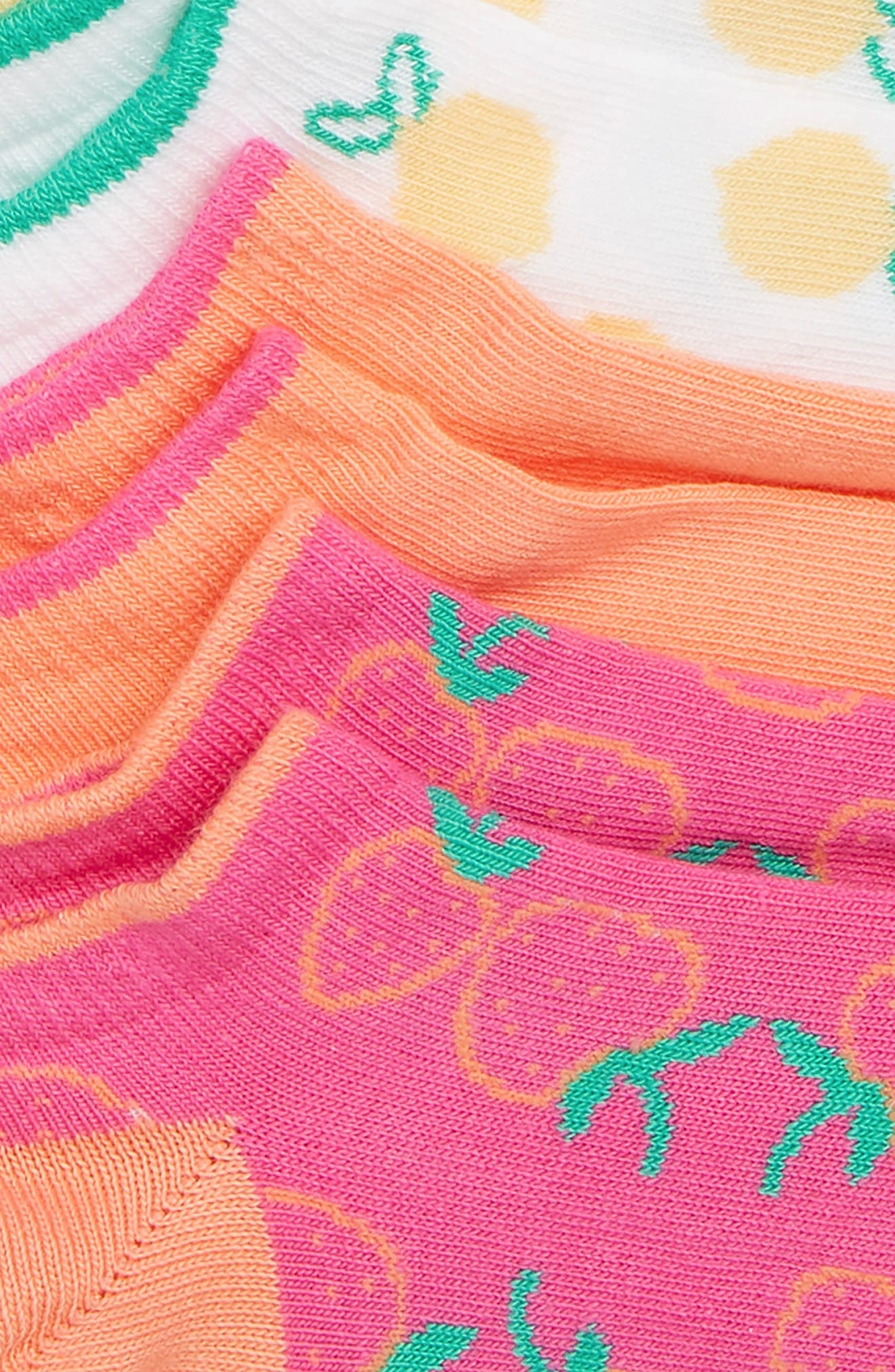 6-Pack Summer Fruit Low-Cut Socks,                             Alternate thumbnail 2, color,                             Blue Azul/Pink Multi